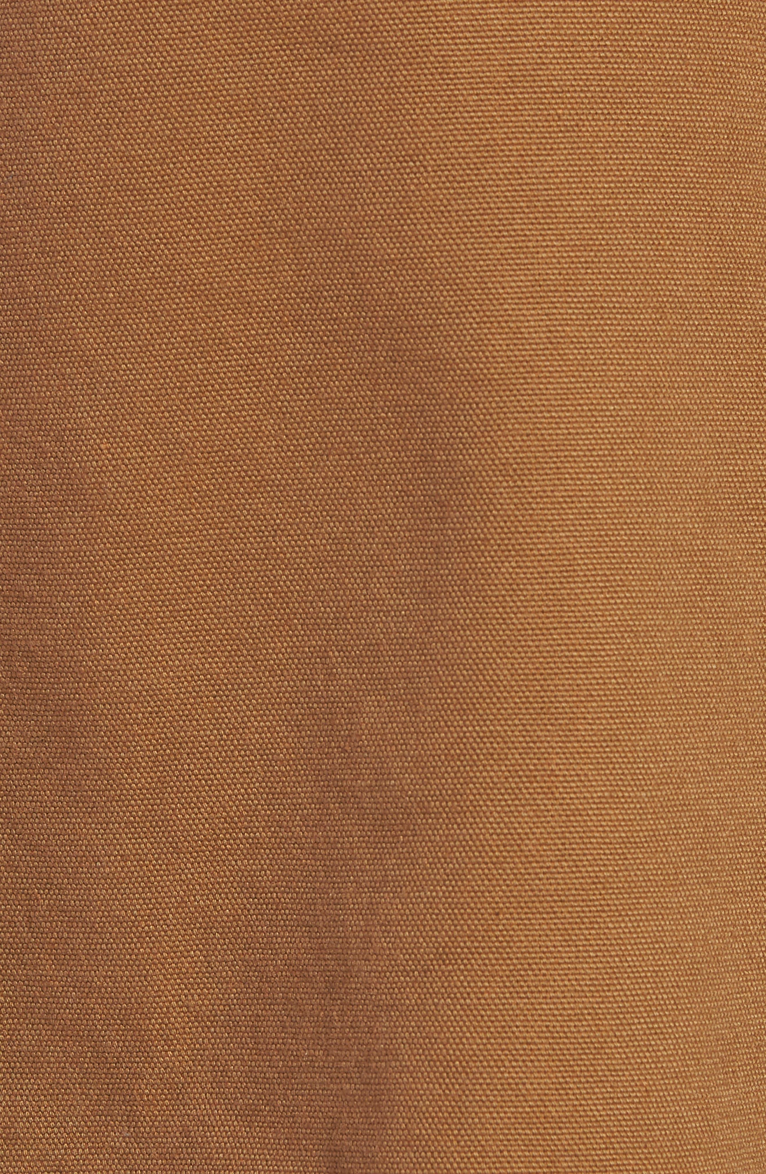 Canvas Bib Overalls,                             Alternate thumbnail 5, color,                             HAMILTON BROWN