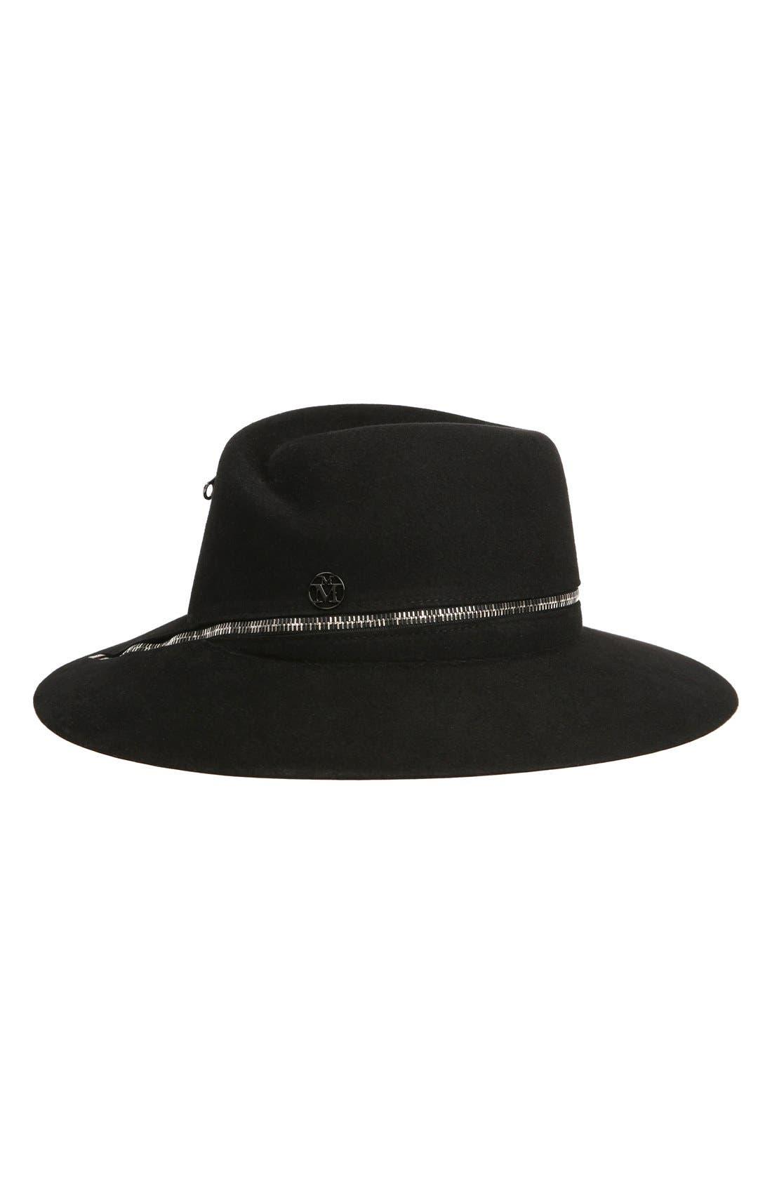 Virginie Fur Felt Hat,                             Main thumbnail 1, color,                             001