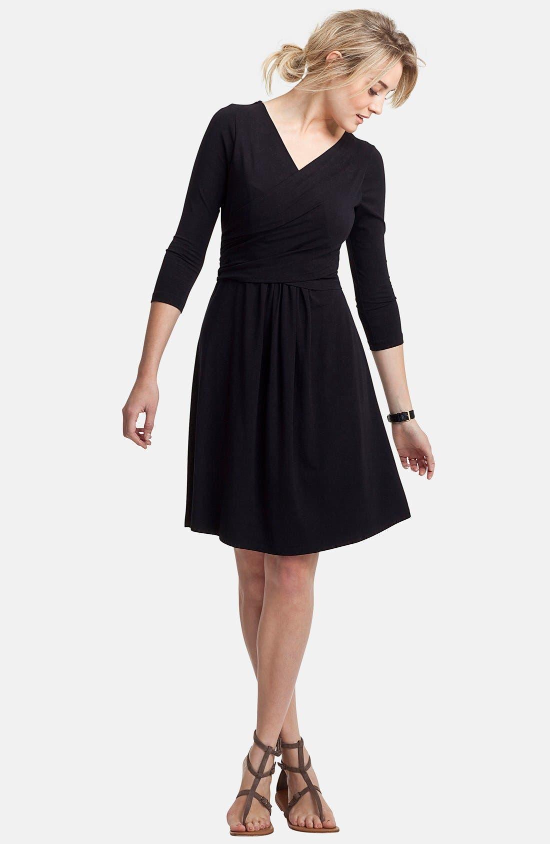 ISABELLA OLIVER,                             'Avebury' Nursing Wrap Maternity Dress,                             Alternate thumbnail 5, color,                             001