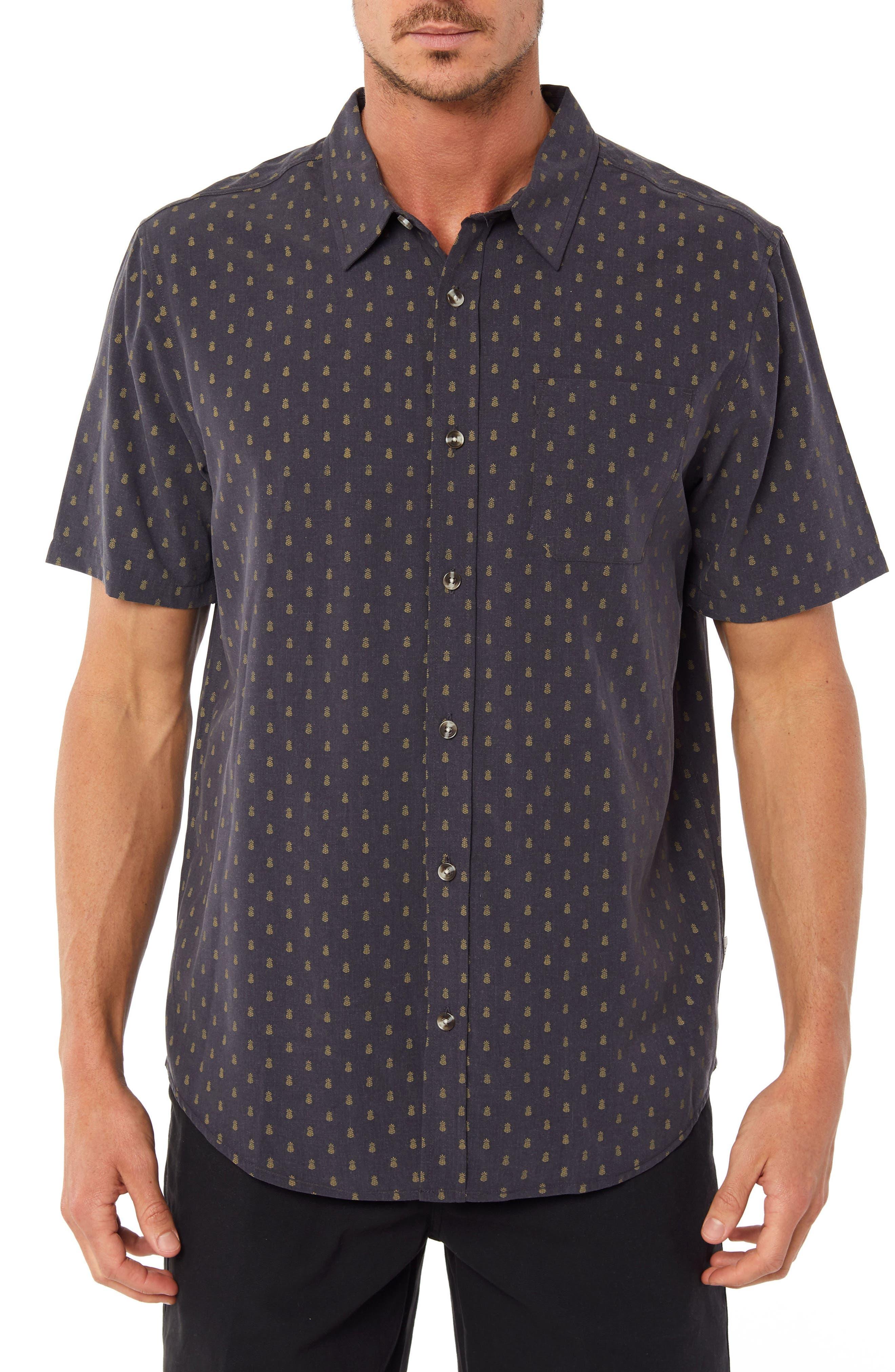 Home Grown Pineapple Sport Shirt,                         Main,                         color, 268