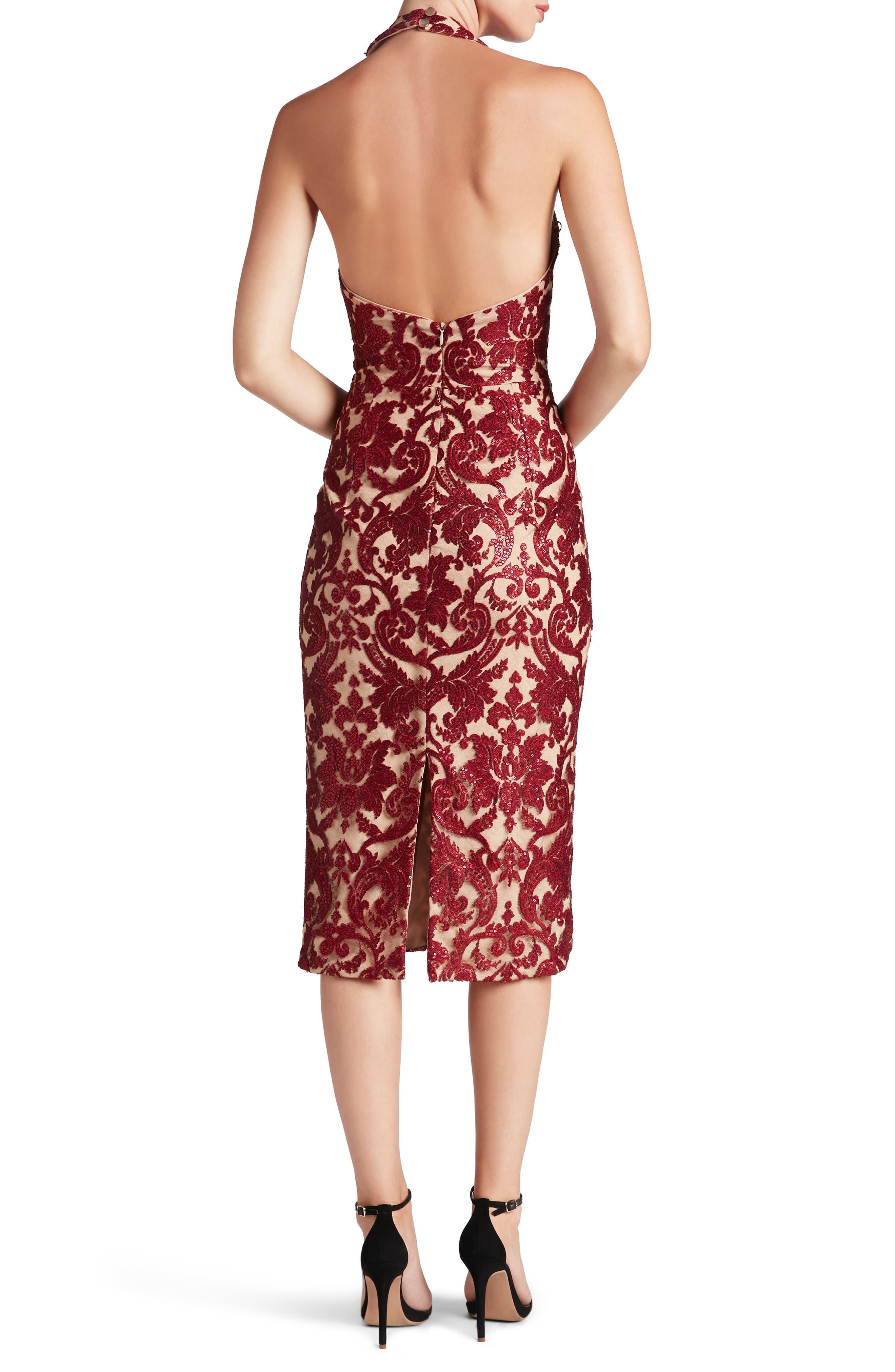 Cassie Sequin Midi Dress,                             Alternate thumbnail 13, color,