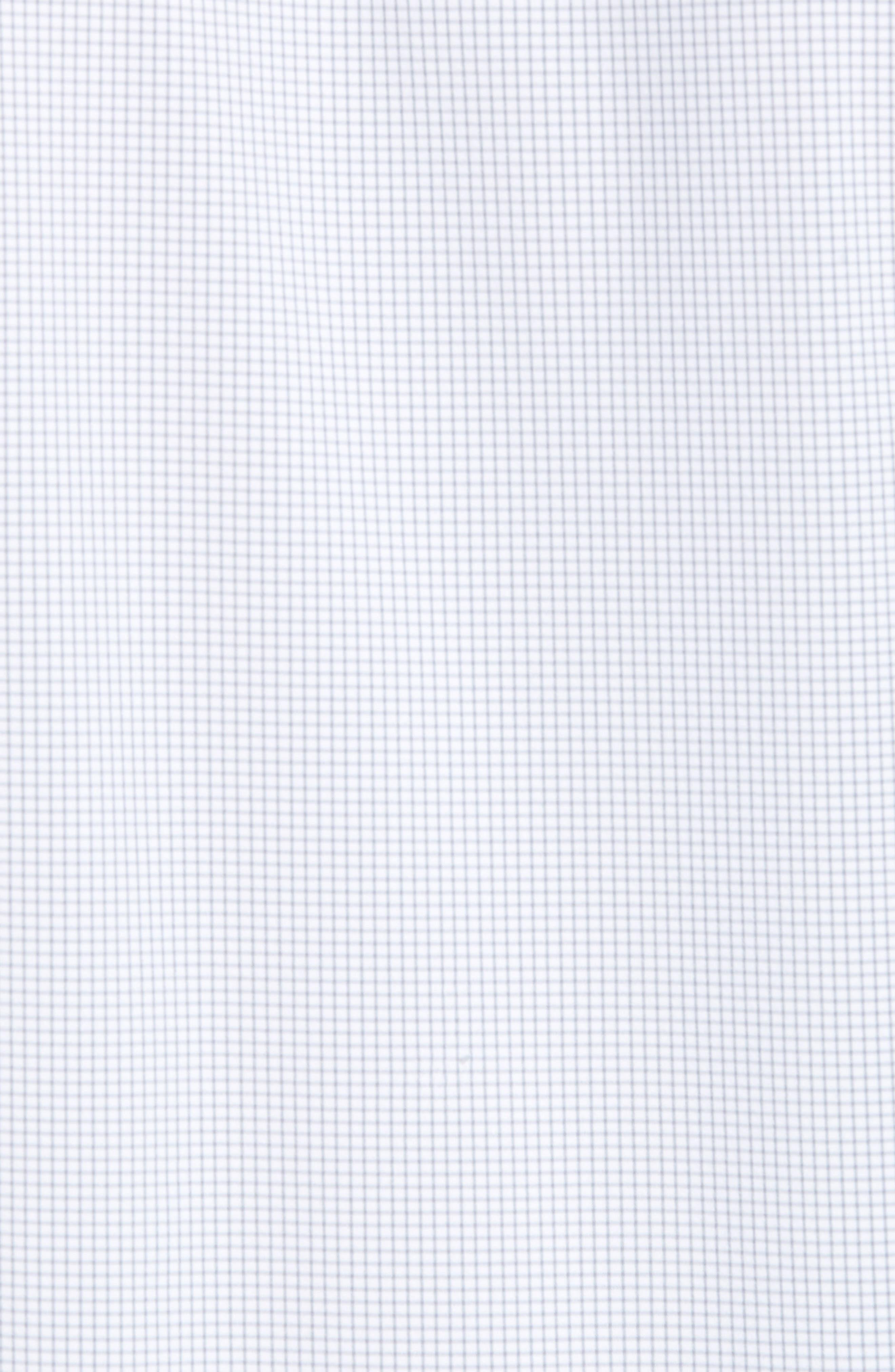 Marion Trim Fit Grid Performance Sport Shirt,                             Alternate thumbnail 5, color,                             052