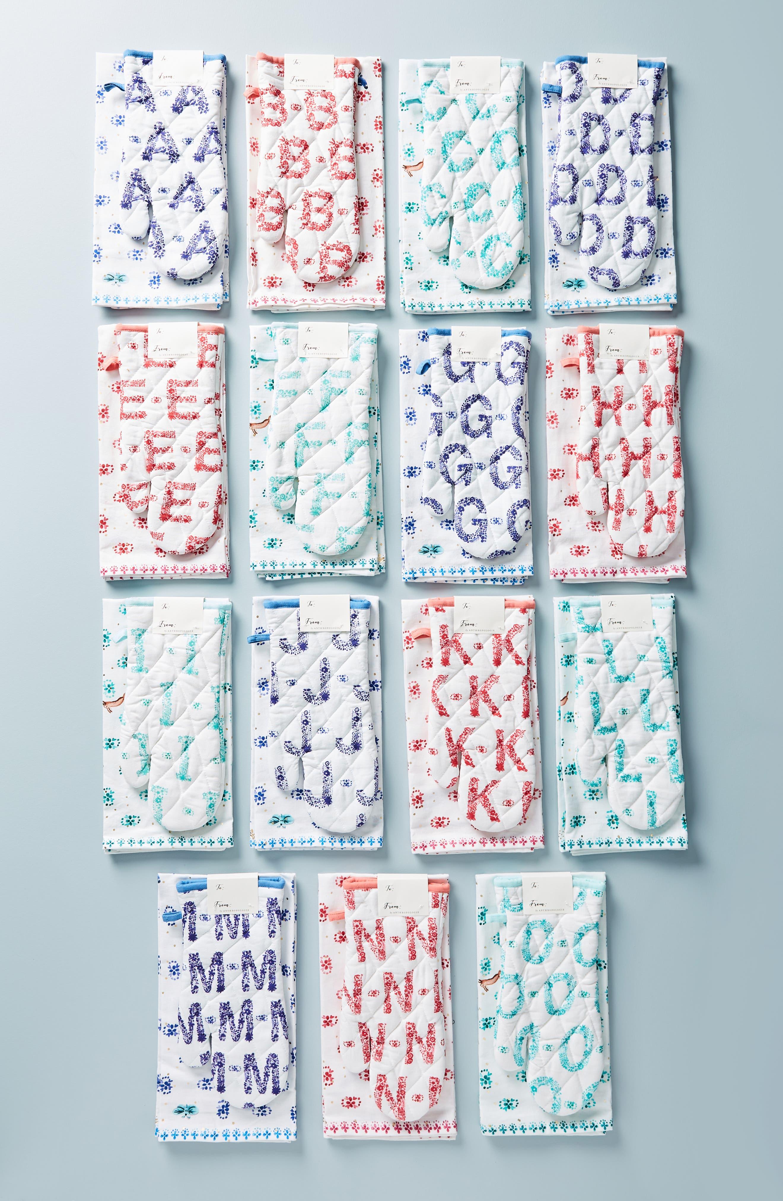Et Vous Monogram Dishtowel & Oven Mitt,                             Main thumbnail 1, color,                             A