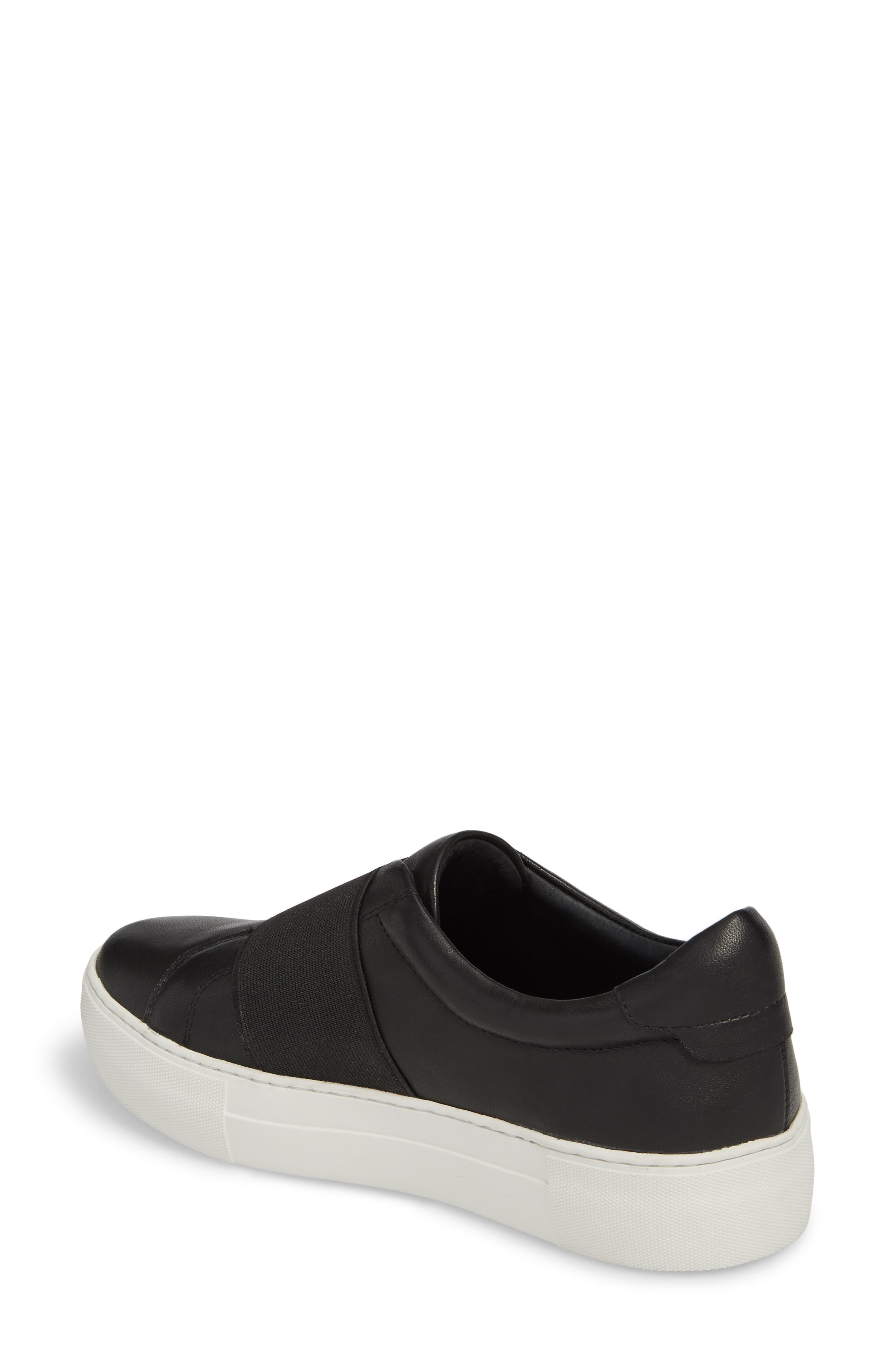 Adorn Slip-On Sneaker,                             Alternate thumbnail 2, color,                             BLACK/ BLACK LEATHER