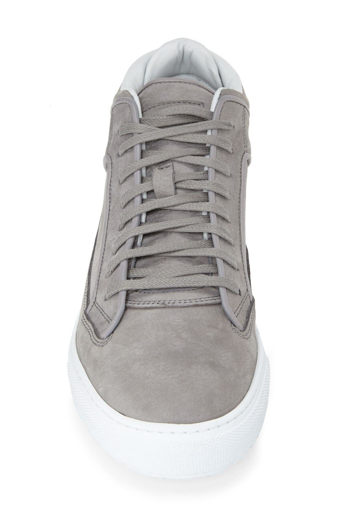 Leather Mid Top Sneaker,                             Alternate thumbnail 4, color,                             032