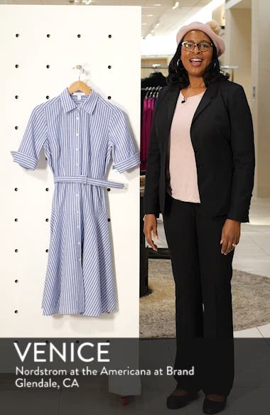 Stripe Belted Shirtdress, sales video thumbnail