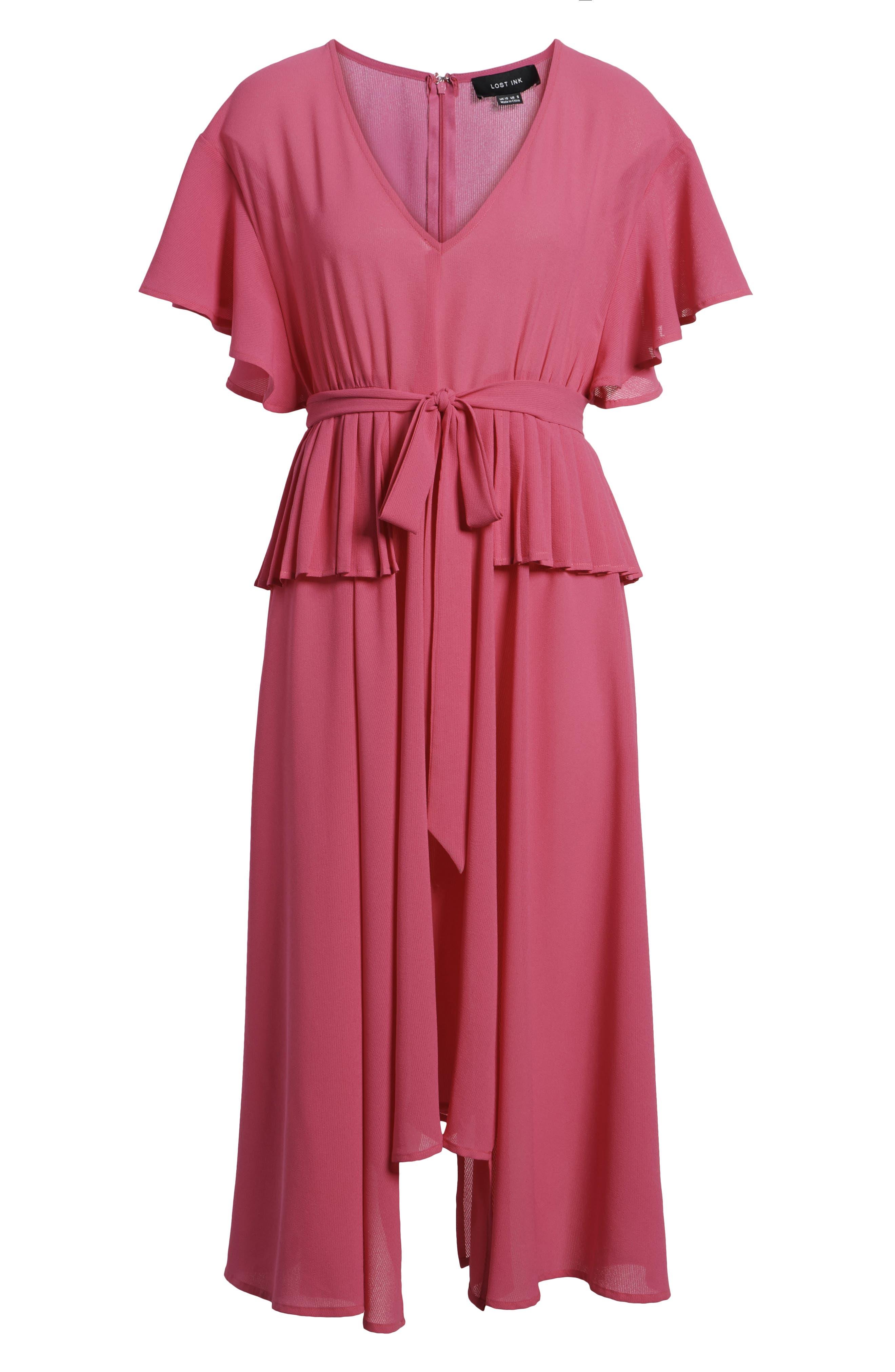 Chiffon Midi Dress,                             Alternate thumbnail 7, color,                             650