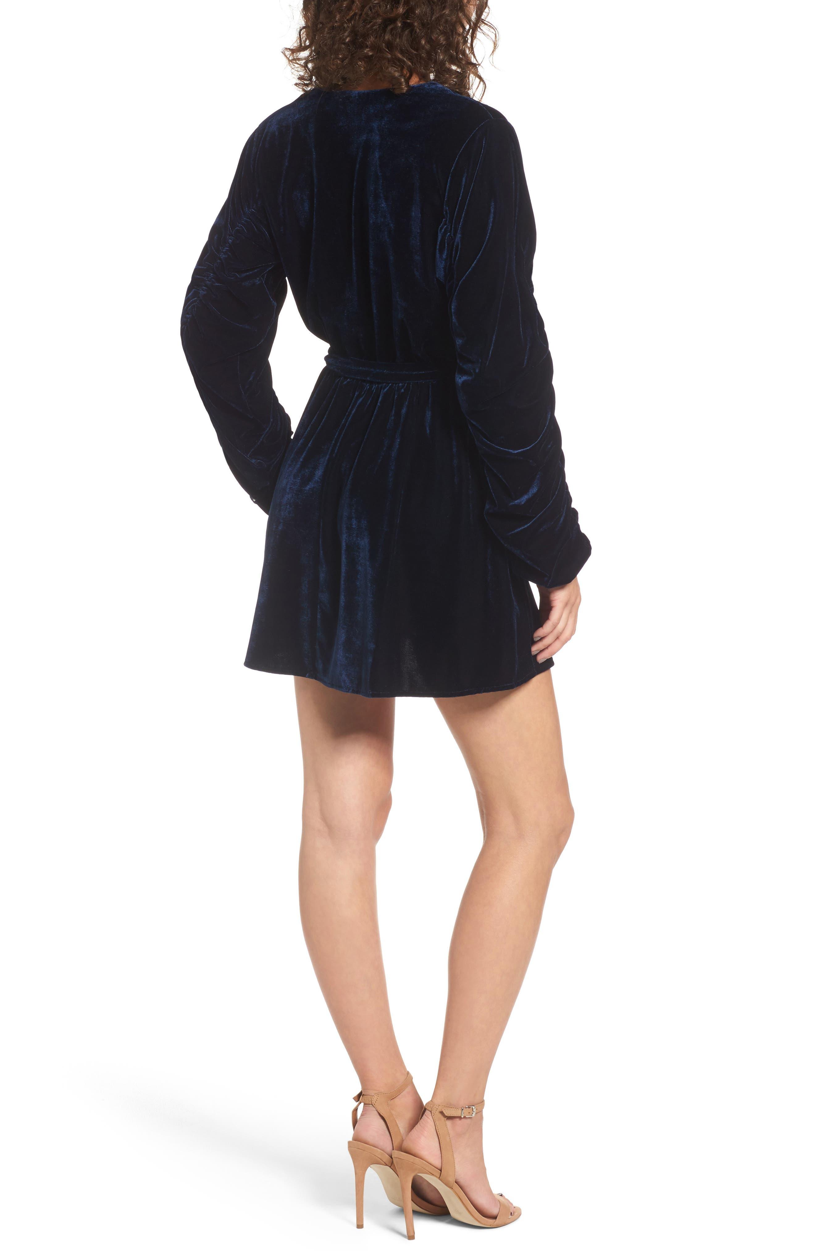 Tawney Velvet Wrap Dress,                             Alternate thumbnail 2, color,                             400