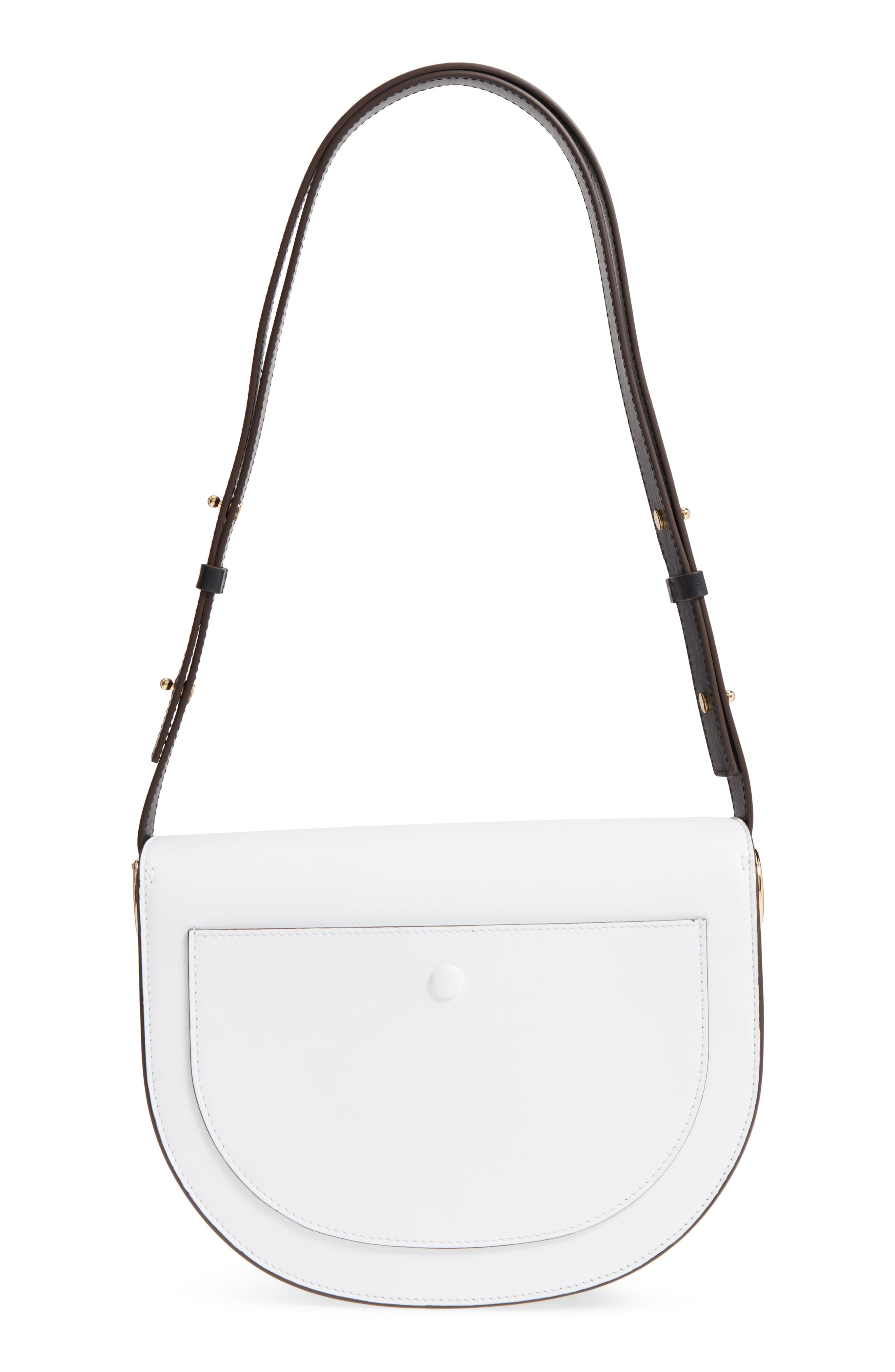Half Moon Box Shoulder Bag,                             Alternate thumbnail 3, color,                             100