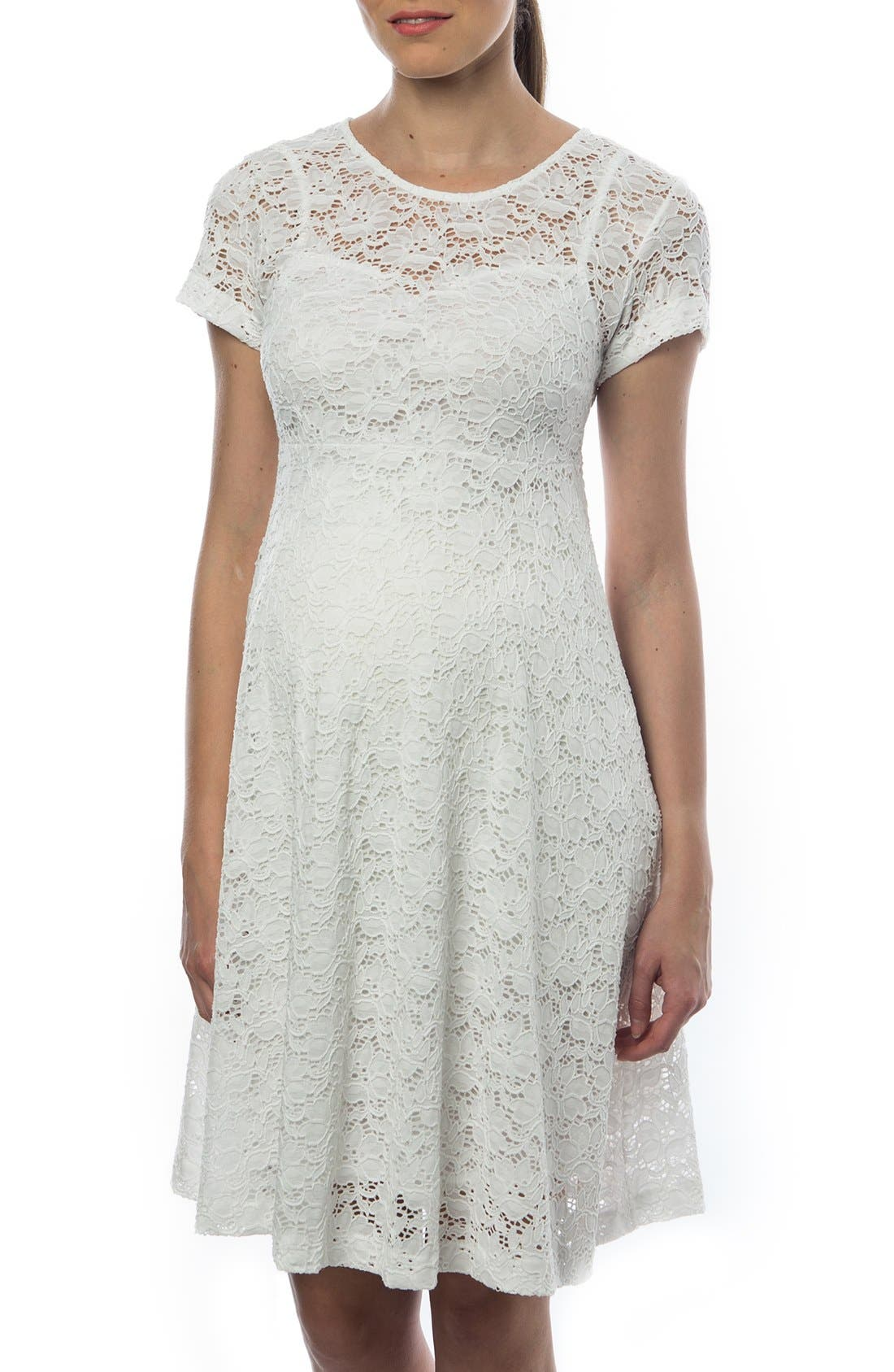 'Rodano' Lace Maternity Dress,                             Main thumbnail 1, color,