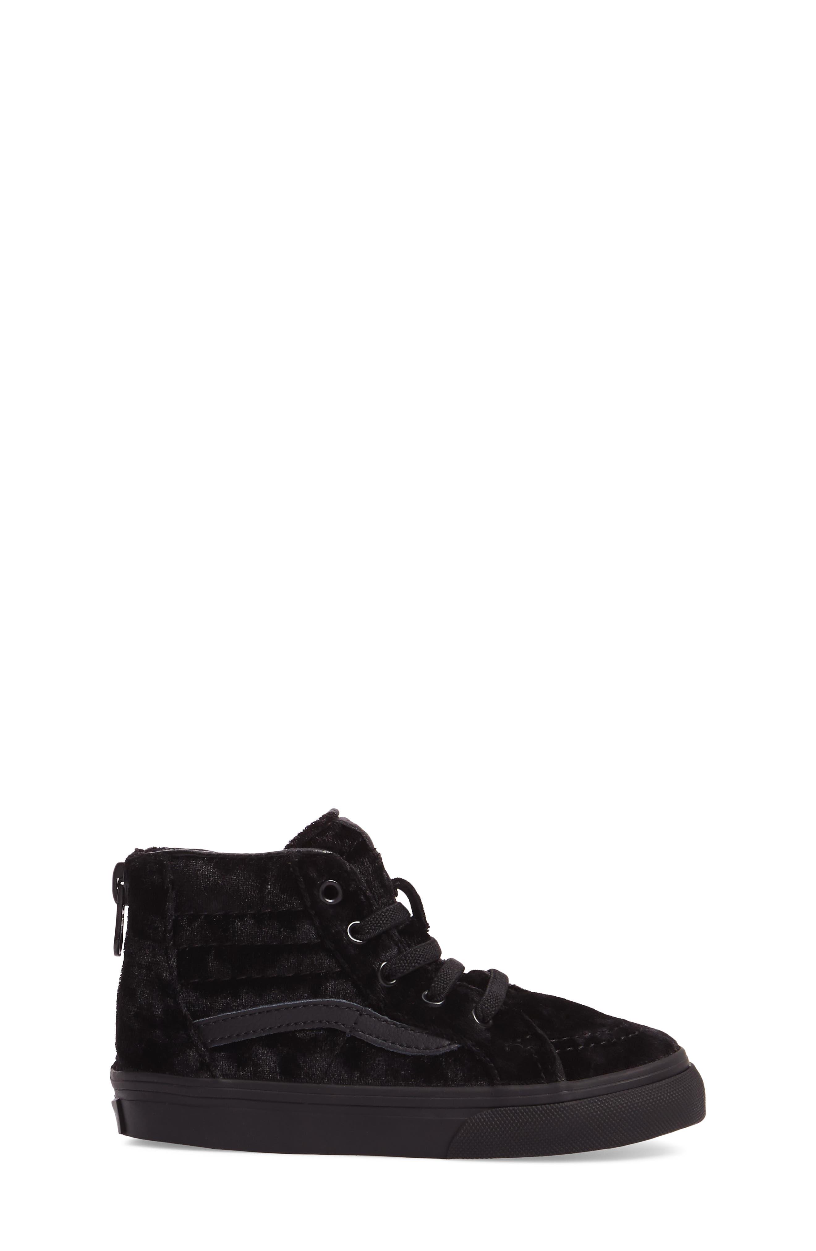 SK8-Hi Zip Sneaker,                             Alternate thumbnail 3, color,                             001