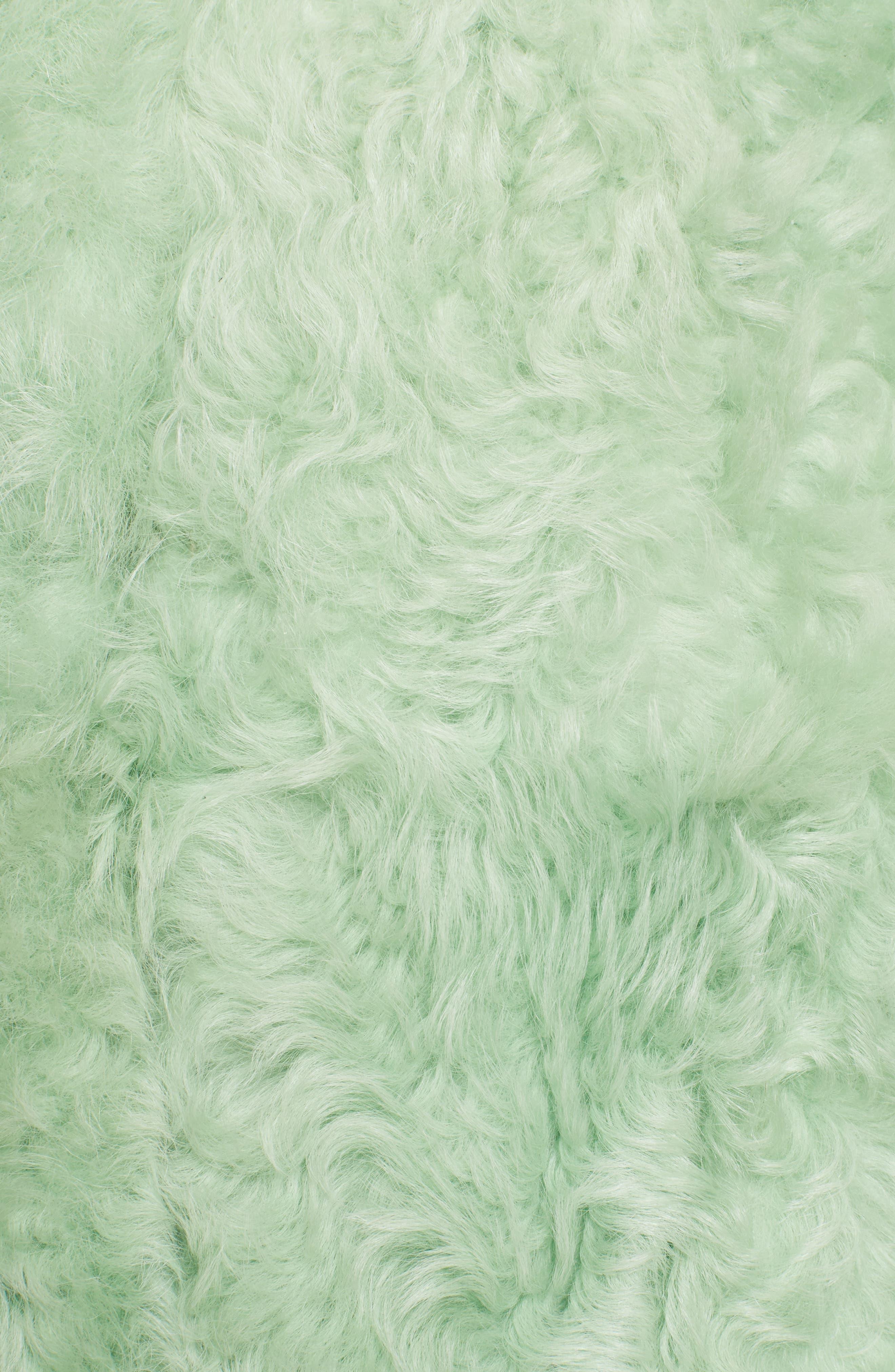Cashew Genuine Shearling Coat,                             Alternate thumbnail 6, color,