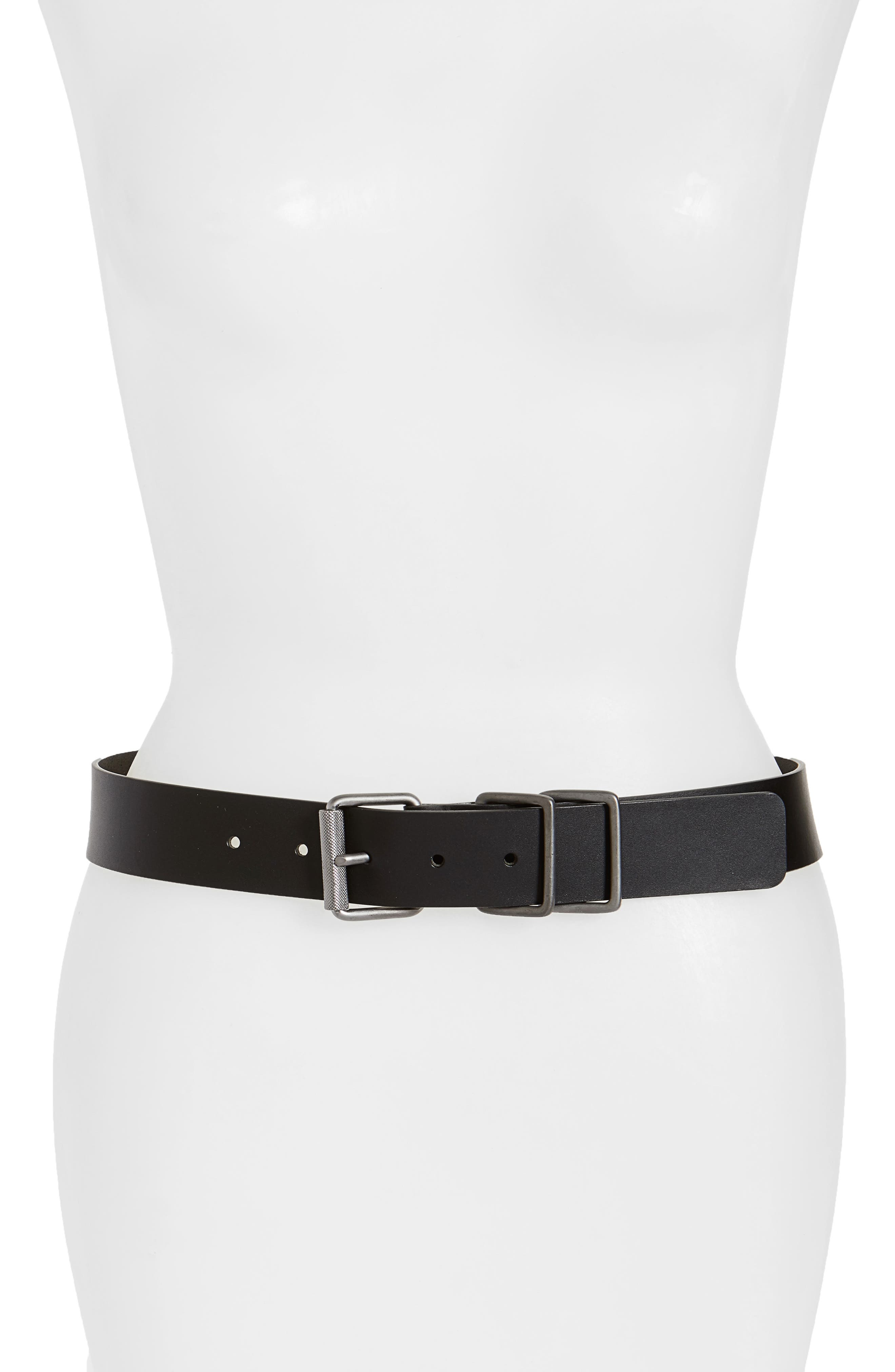 Engineer Leather Belt,                             Main thumbnail 1, color,                             001