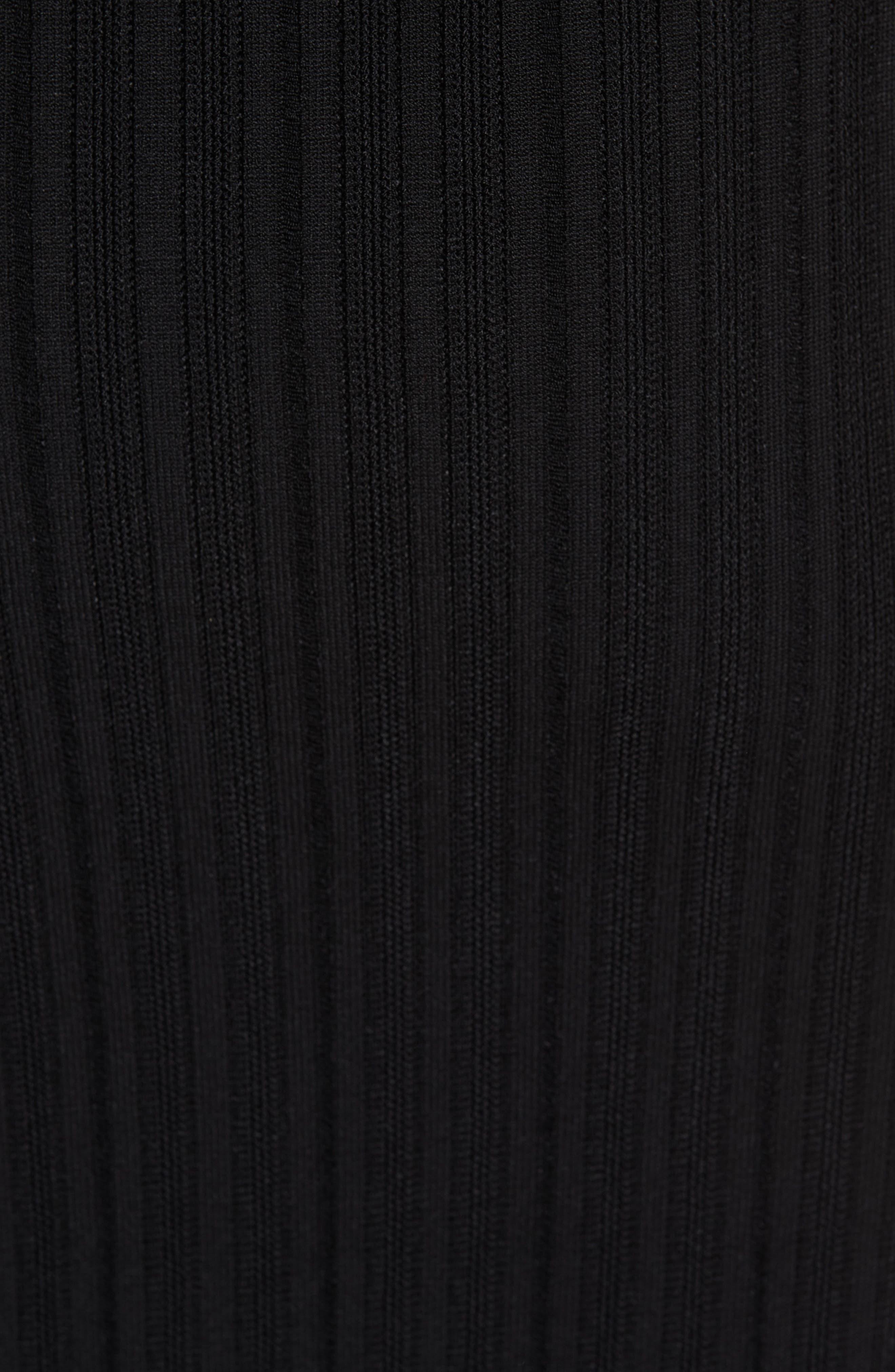 CUSHNIE,                             Knit Pencil Dress,                             Alternate thumbnail 6, color,                             BLACK