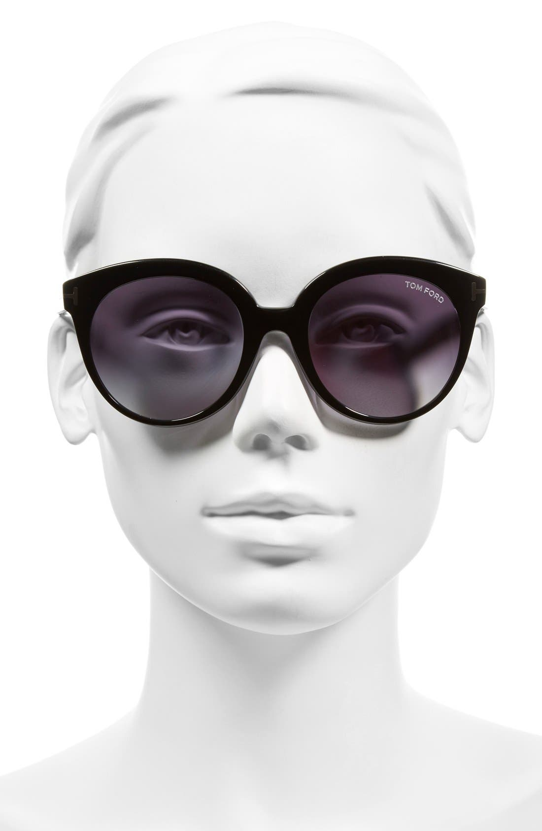 'Monica' 54mm Retro Sunglasses,                             Alternate thumbnail 6, color,