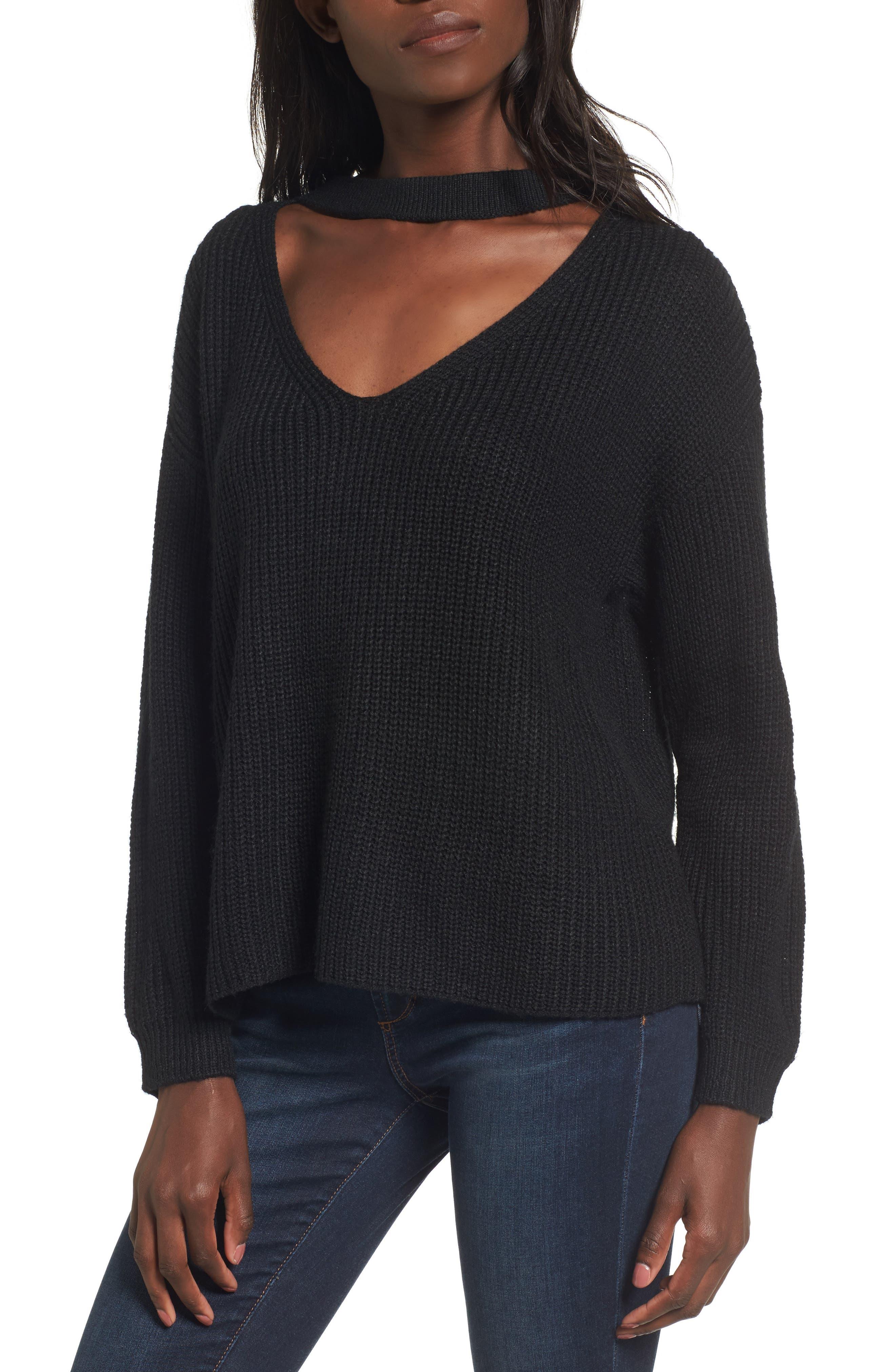 Madison Cutout Sweater,                             Main thumbnail 1, color,                             001