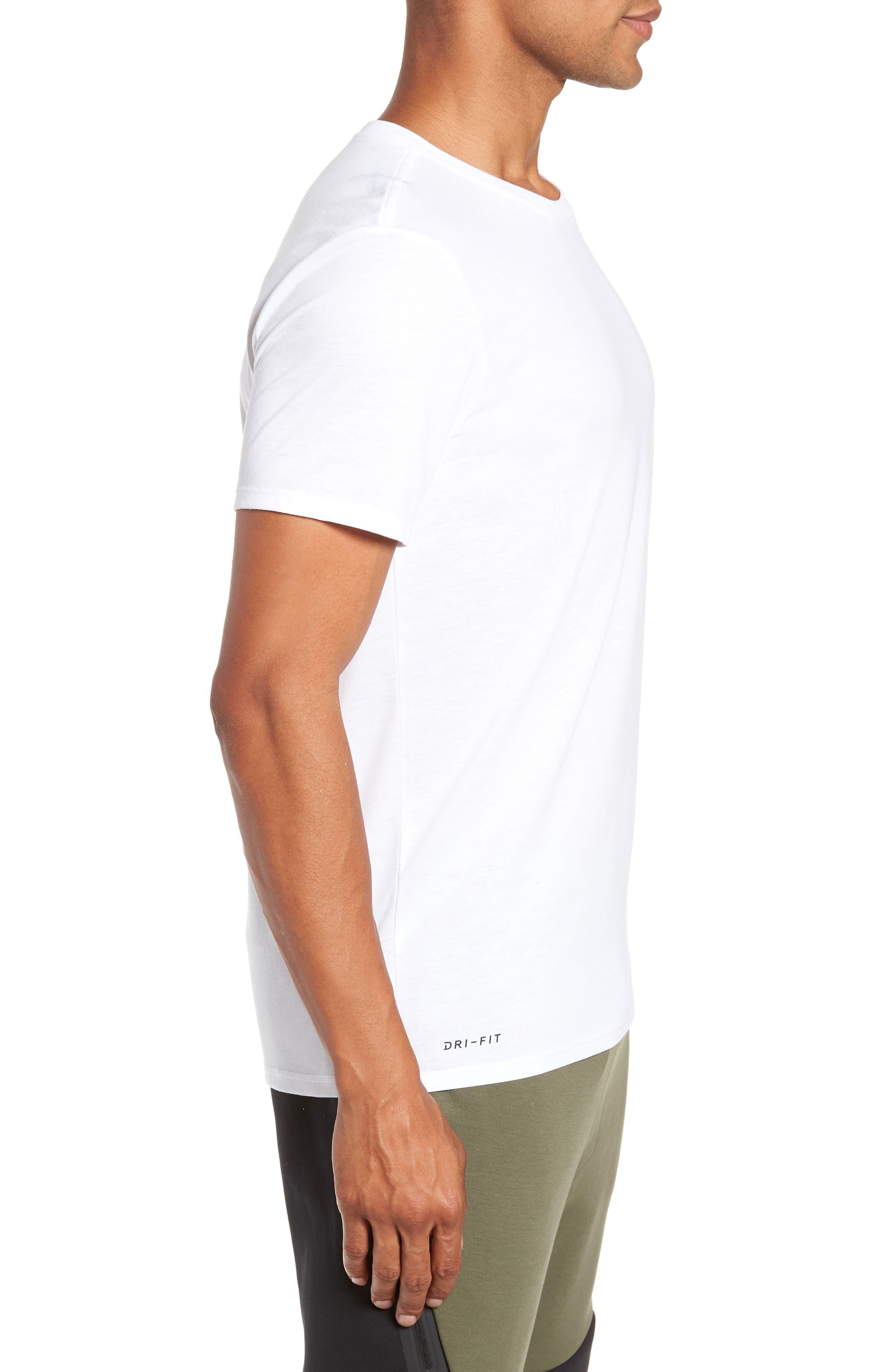Dry Running Division T-Shirt,                             Alternate thumbnail 3, color,                             WHITE/ GUNSMOKE