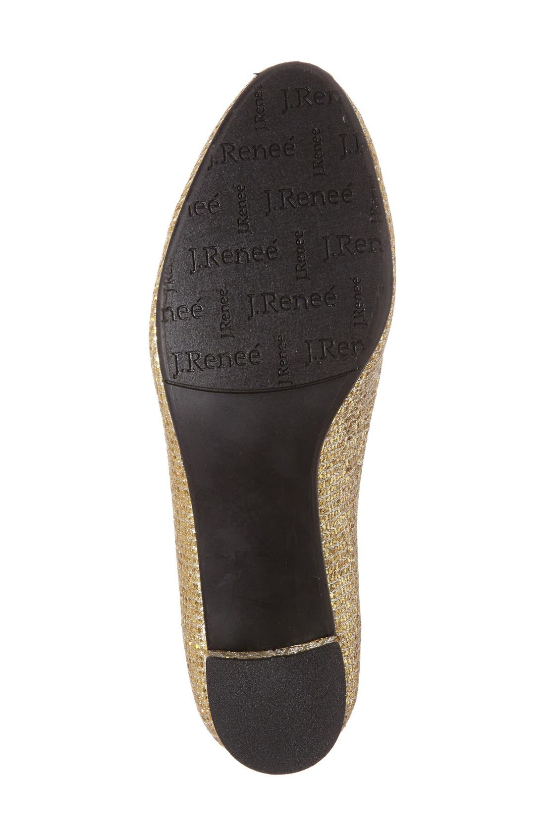 'Bambalina' Block Heel Glitter Pump,                             Alternate thumbnail 24, color,
