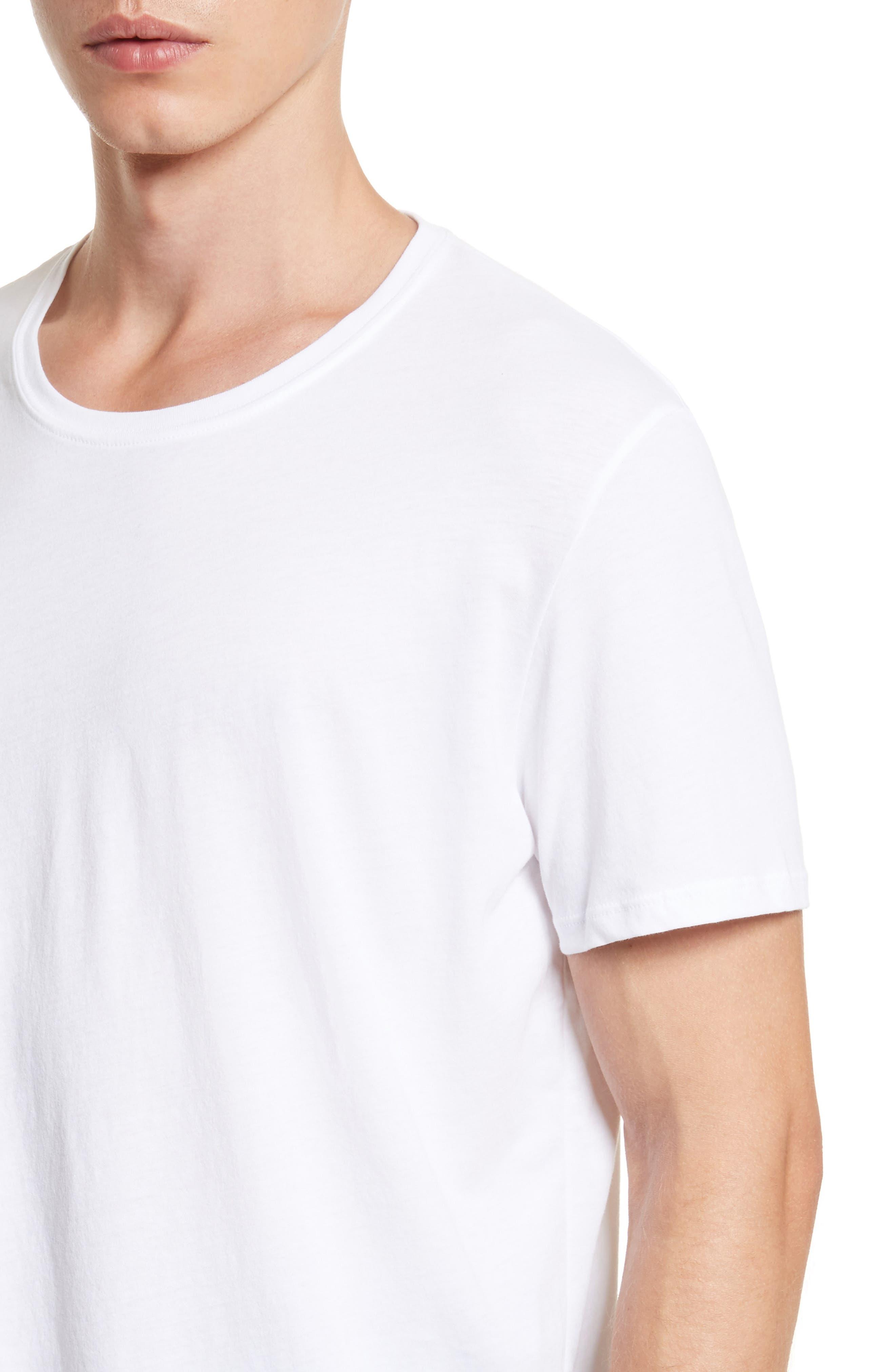 Cotton Jersey T-Shirt,                             Alternate thumbnail 4, color,                             WHITE
