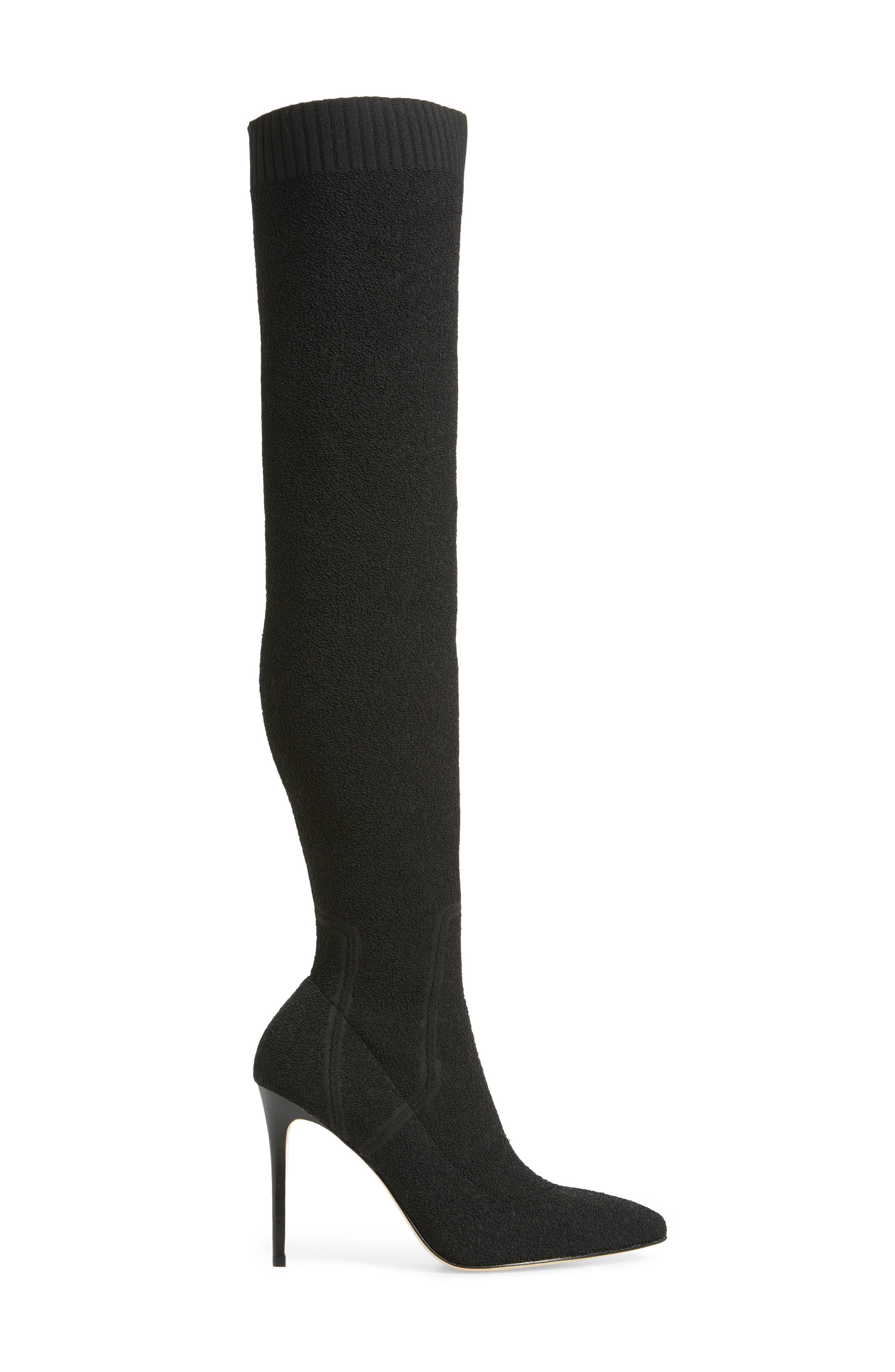 Jessamine Over the Knee Boot,                             Alternate thumbnail 3, color,                             BLACK