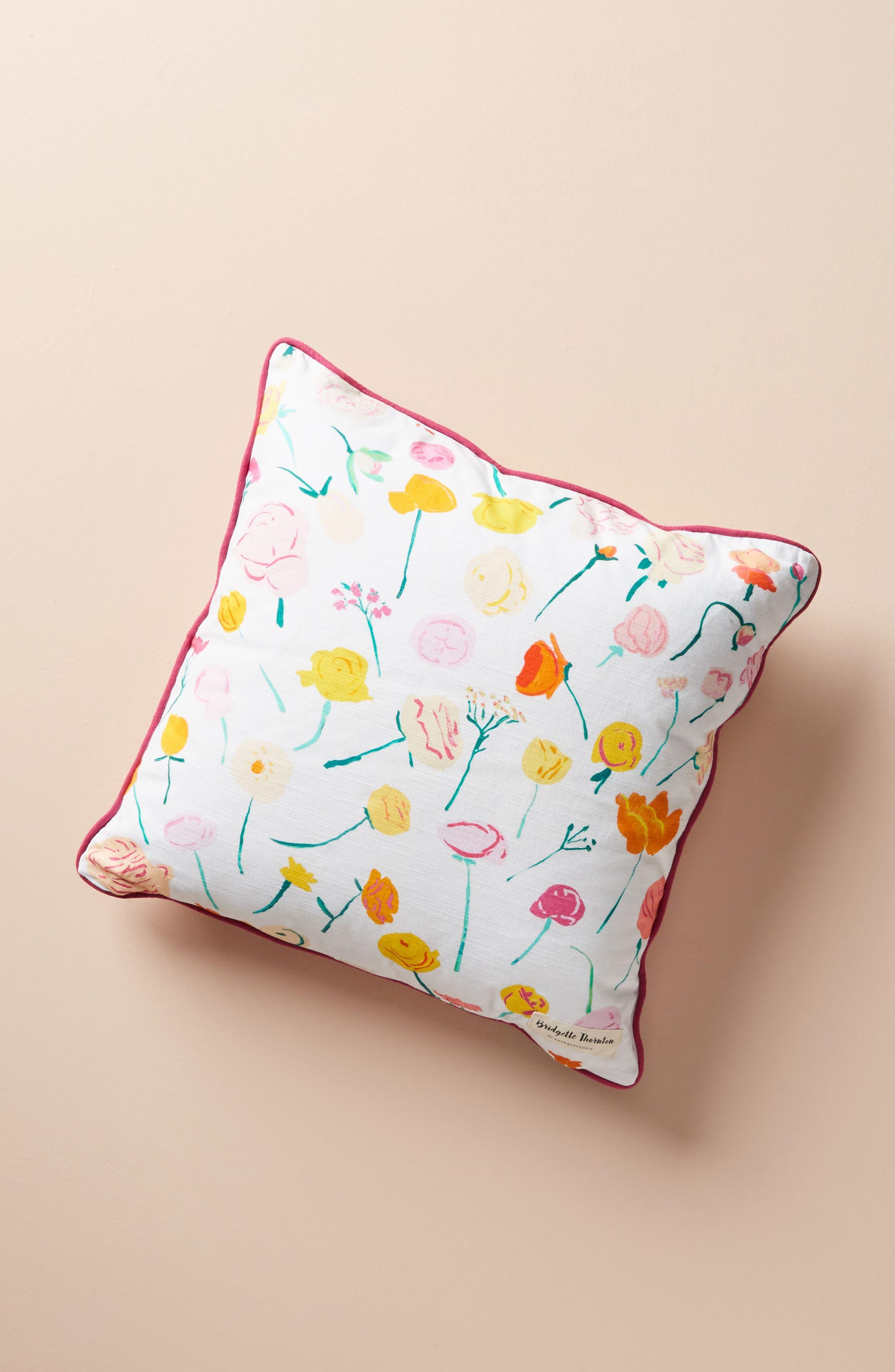 Paint + Petals Accent Pillow,                             Alternate thumbnail 2, color,                             YELLOW