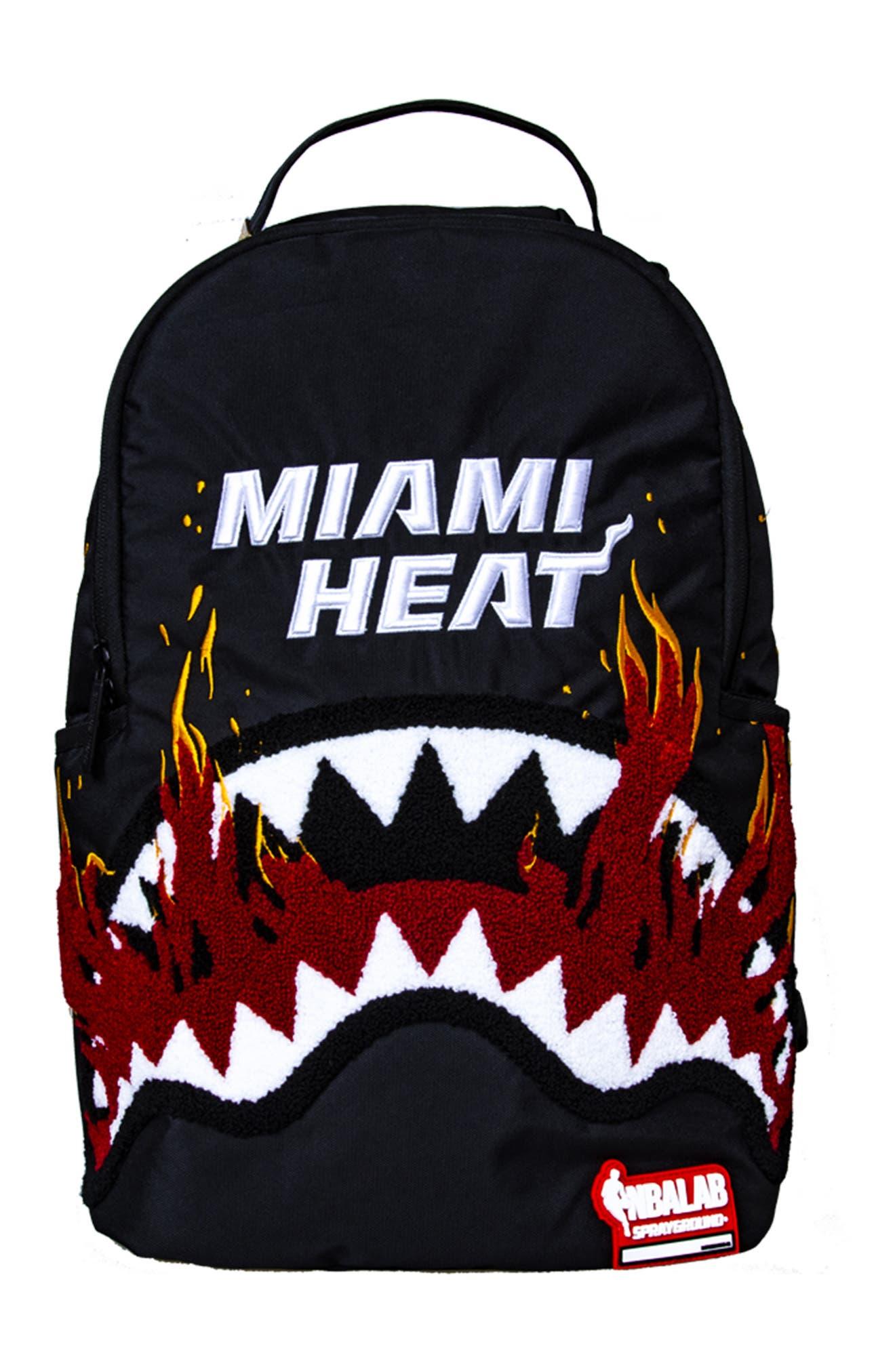 SPRAYGROUND Miami Heat Shark Teeth Backpack - Brown