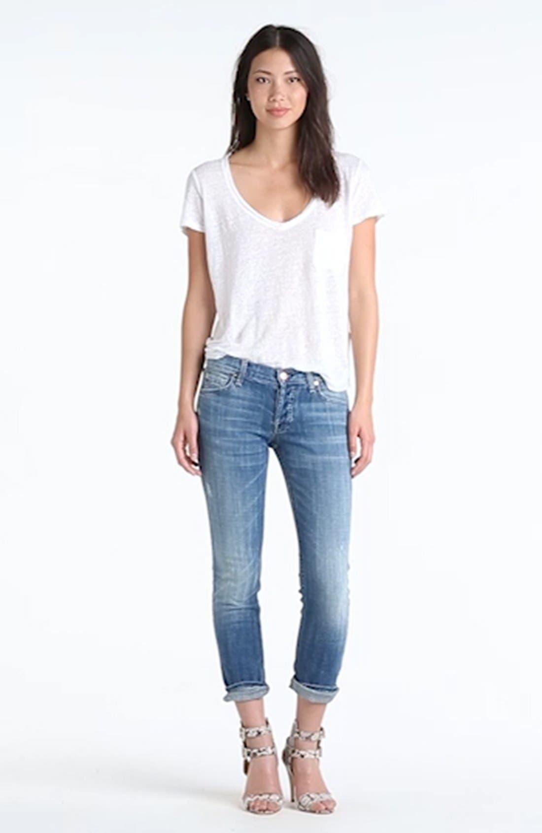 Josefina Boyfriend Jeans,                             Alternate thumbnail 7, color,                             400