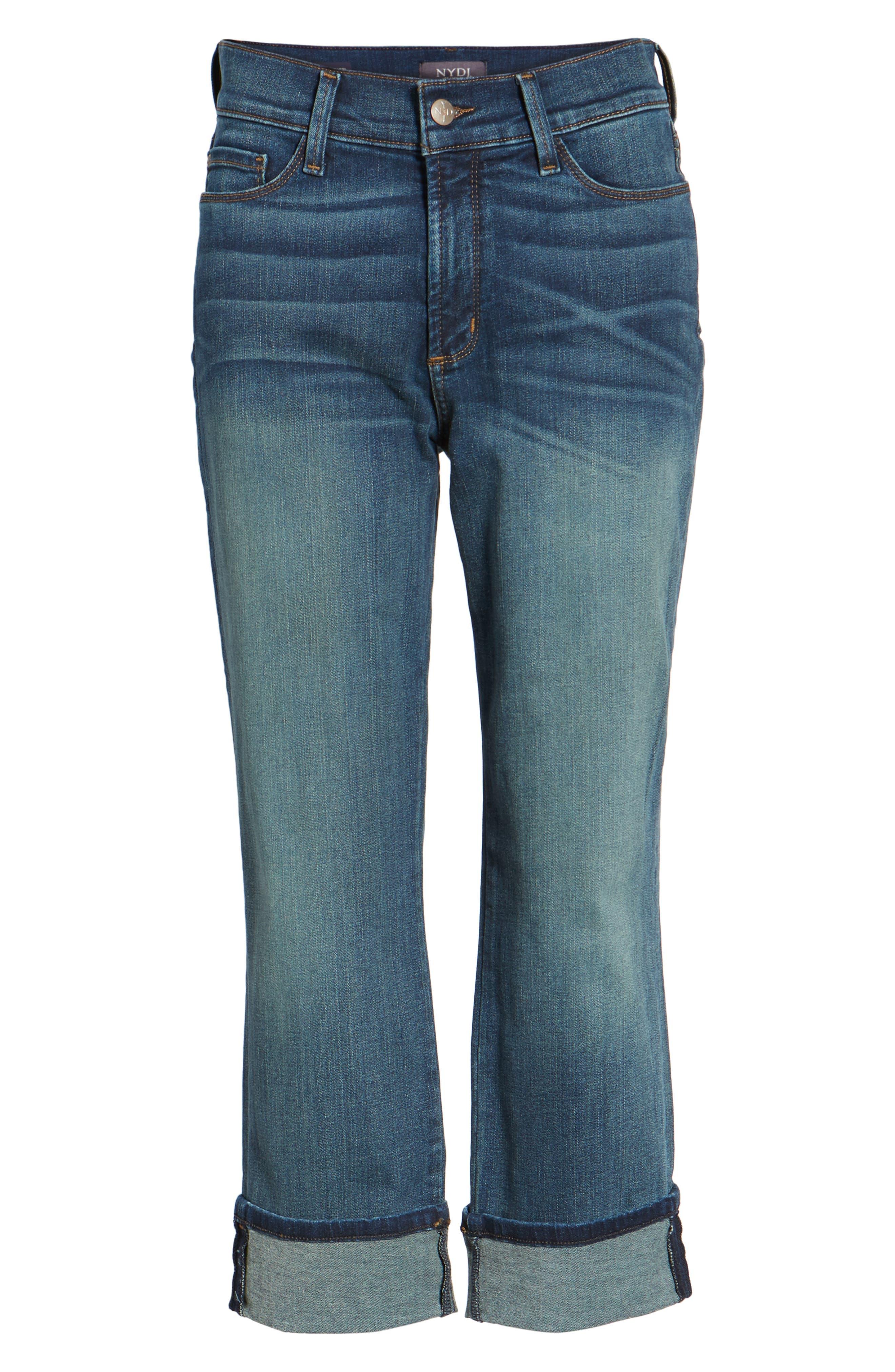 'Dayla' Colored Wide Cuff Capri Jeans,                             Alternate thumbnail 81, color,