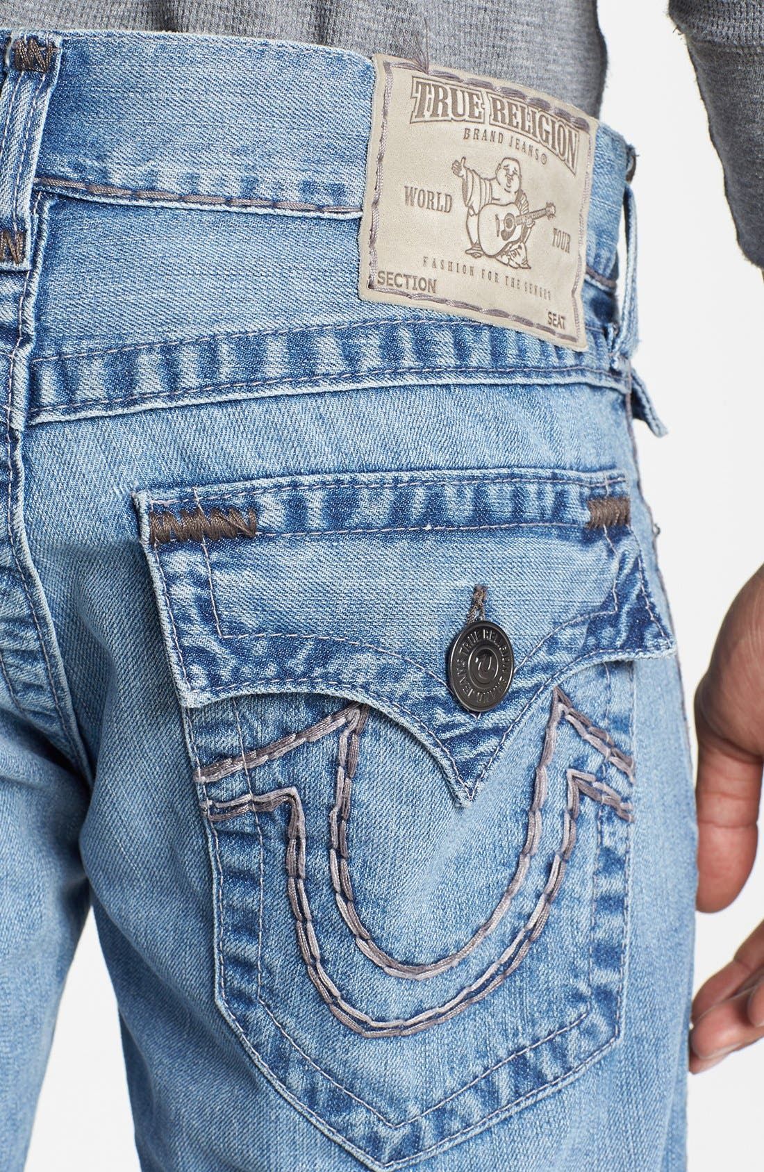 'Ricky' Straight Leg Jeans,                             Alternate thumbnail 3, color,                             400