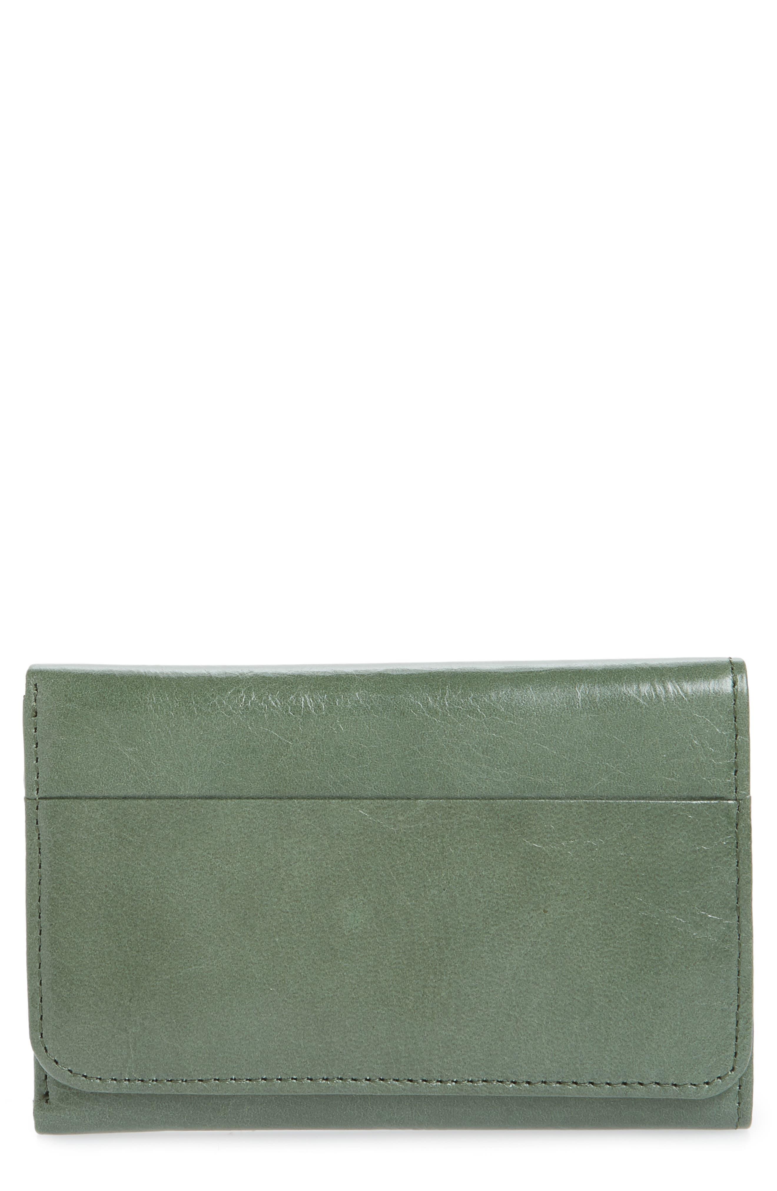 Jill Trifold Wallet,                         Main,                         color, MOSS