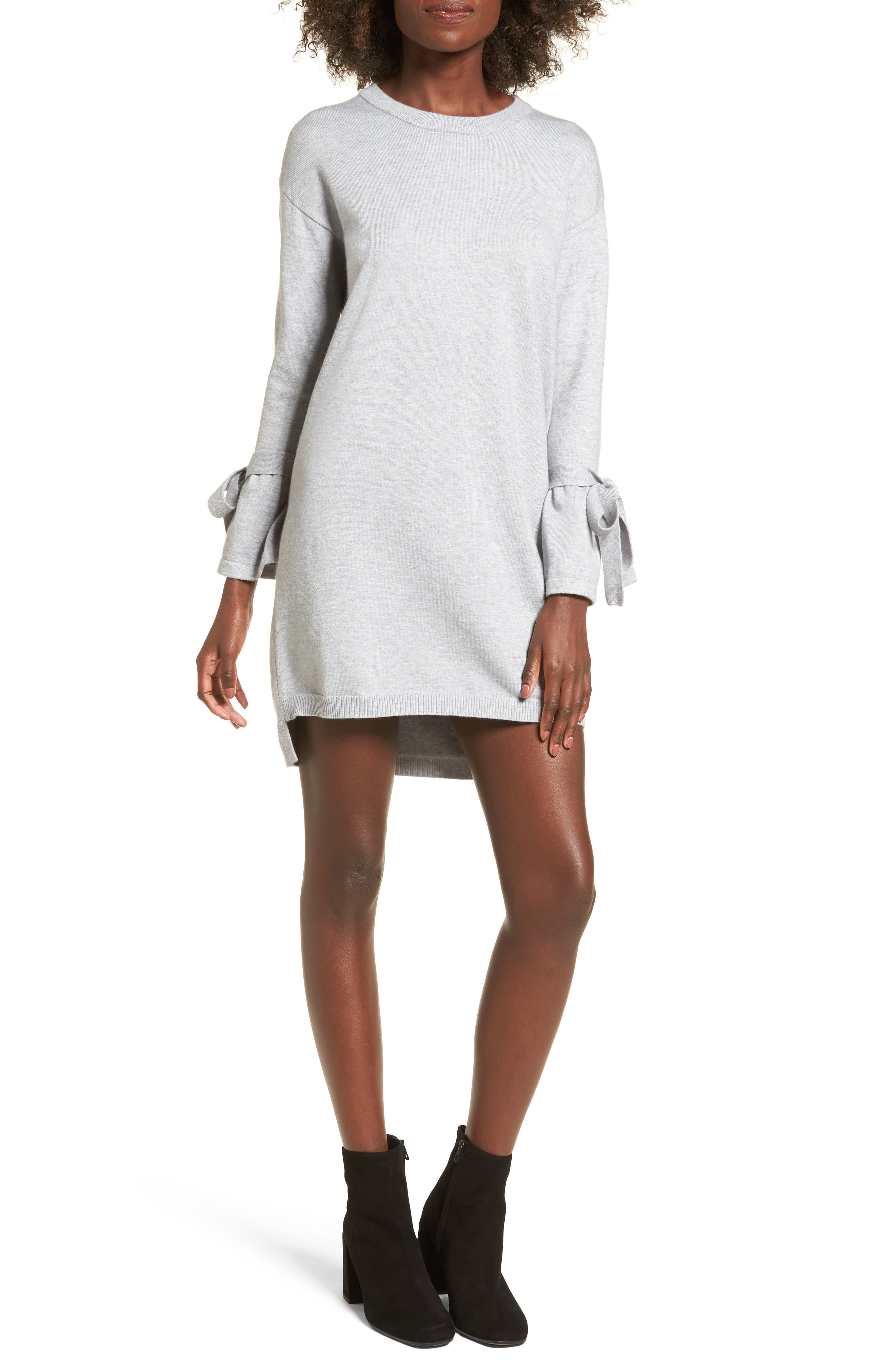 Tie Sleeve Sweater Dress,                             Main thumbnail 1, color,                             038