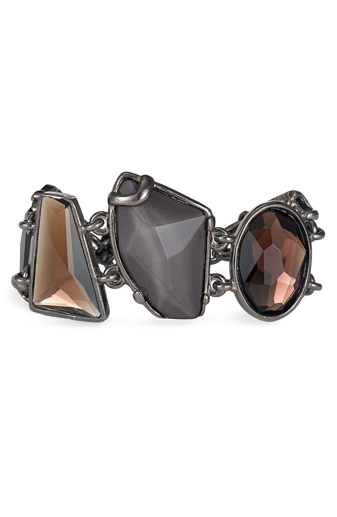 'Keep Rockin' Multi Stone Toggle Bracelet, Main, color, 001