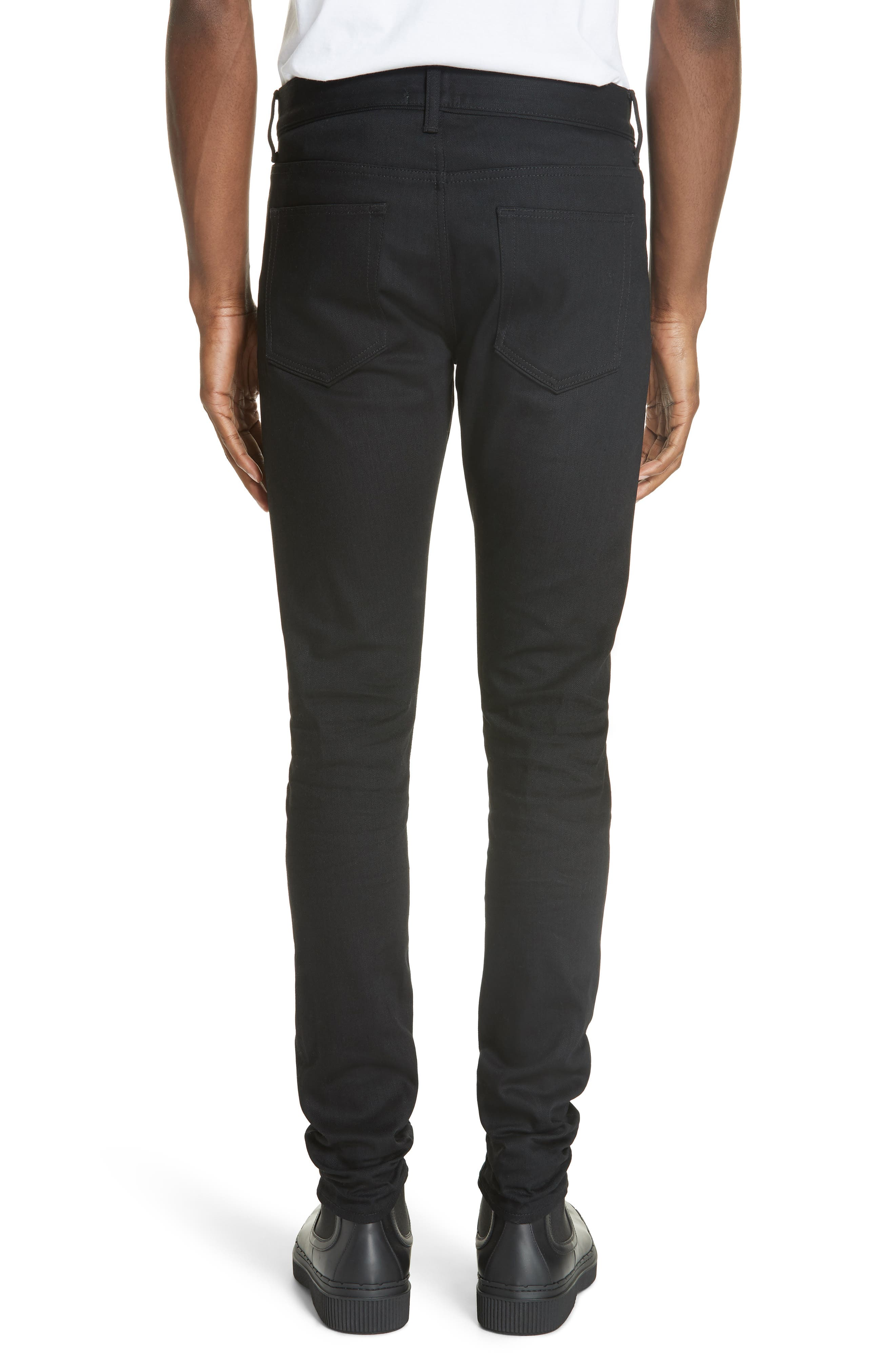 The Cast 2 Skinny Fit Jeans,                             Alternate thumbnail 2, color,                             OBSIDIAN
