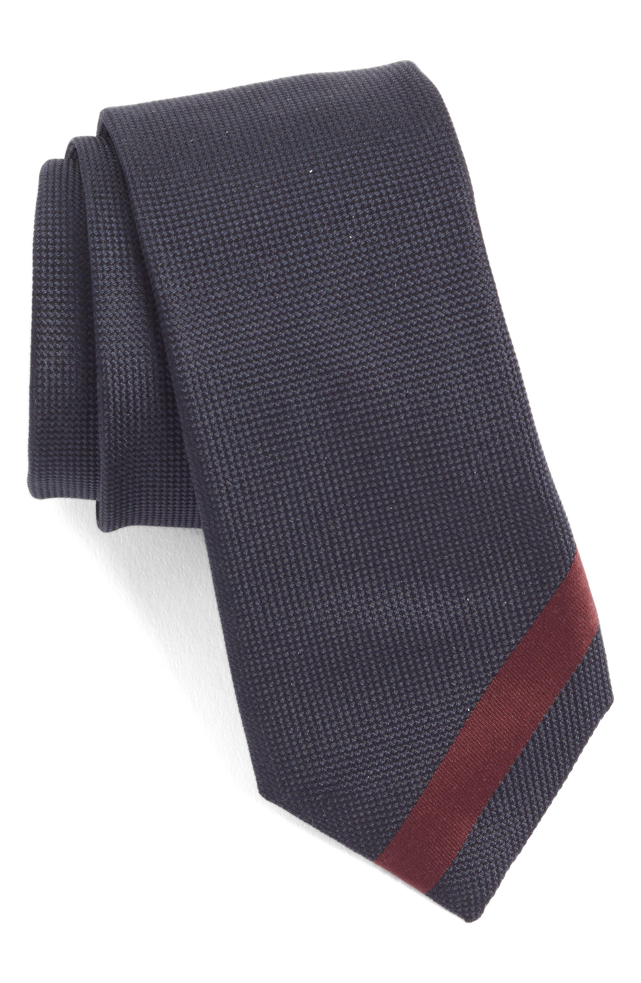 x Nordstrom Silk Tie,                             Main thumbnail 1, color,                             BLUE