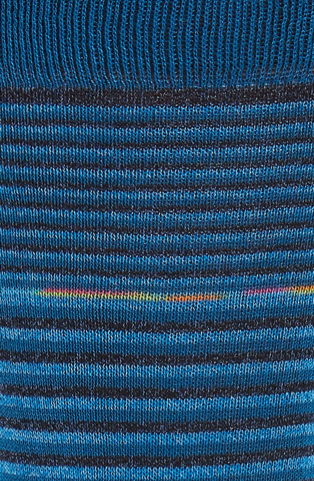 Stripe Socks,                             Alternate thumbnail 2, color,                             TEAL