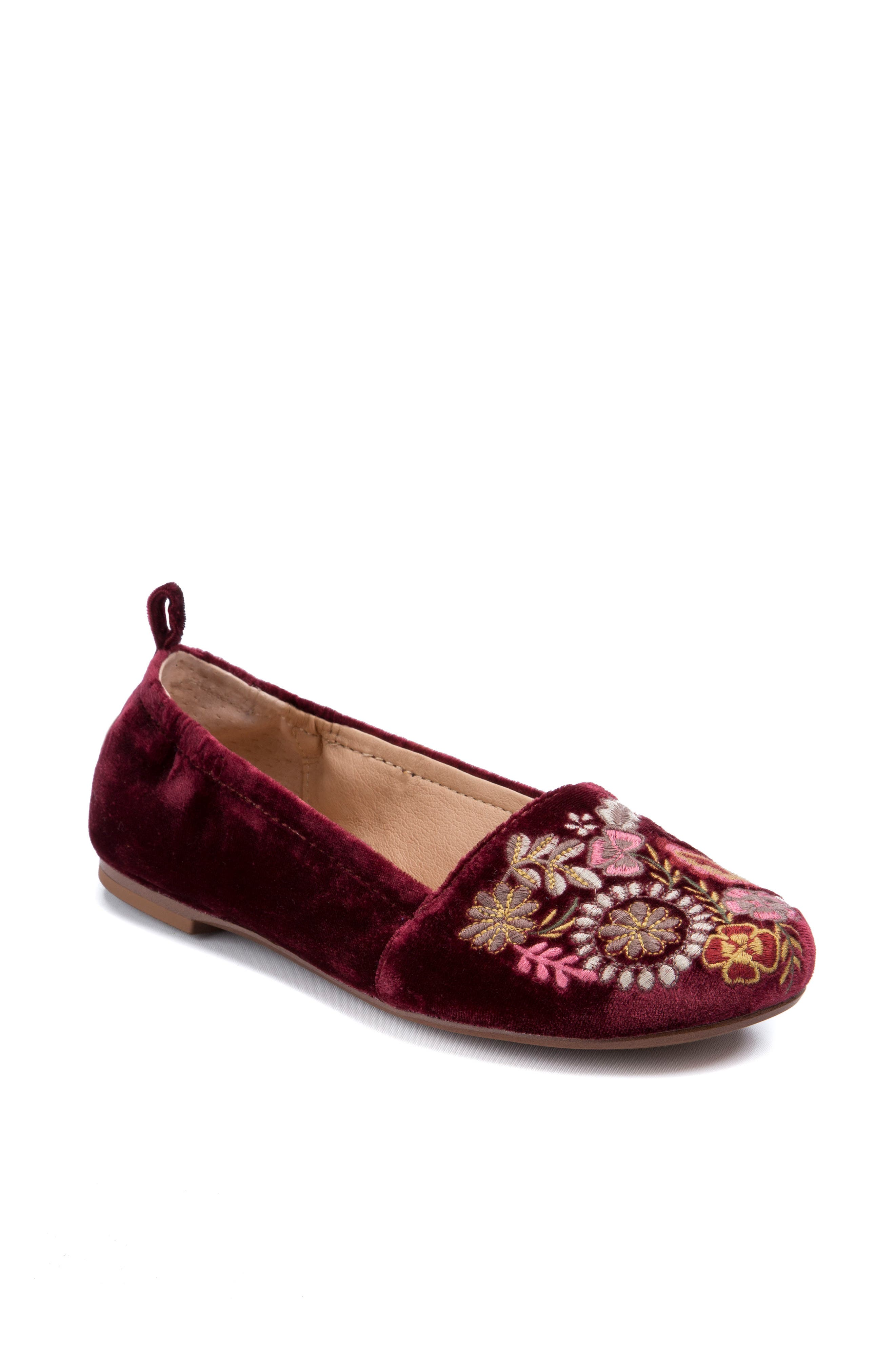 Gayla Floral Embroidered Flat,                             Main thumbnail 2, color,