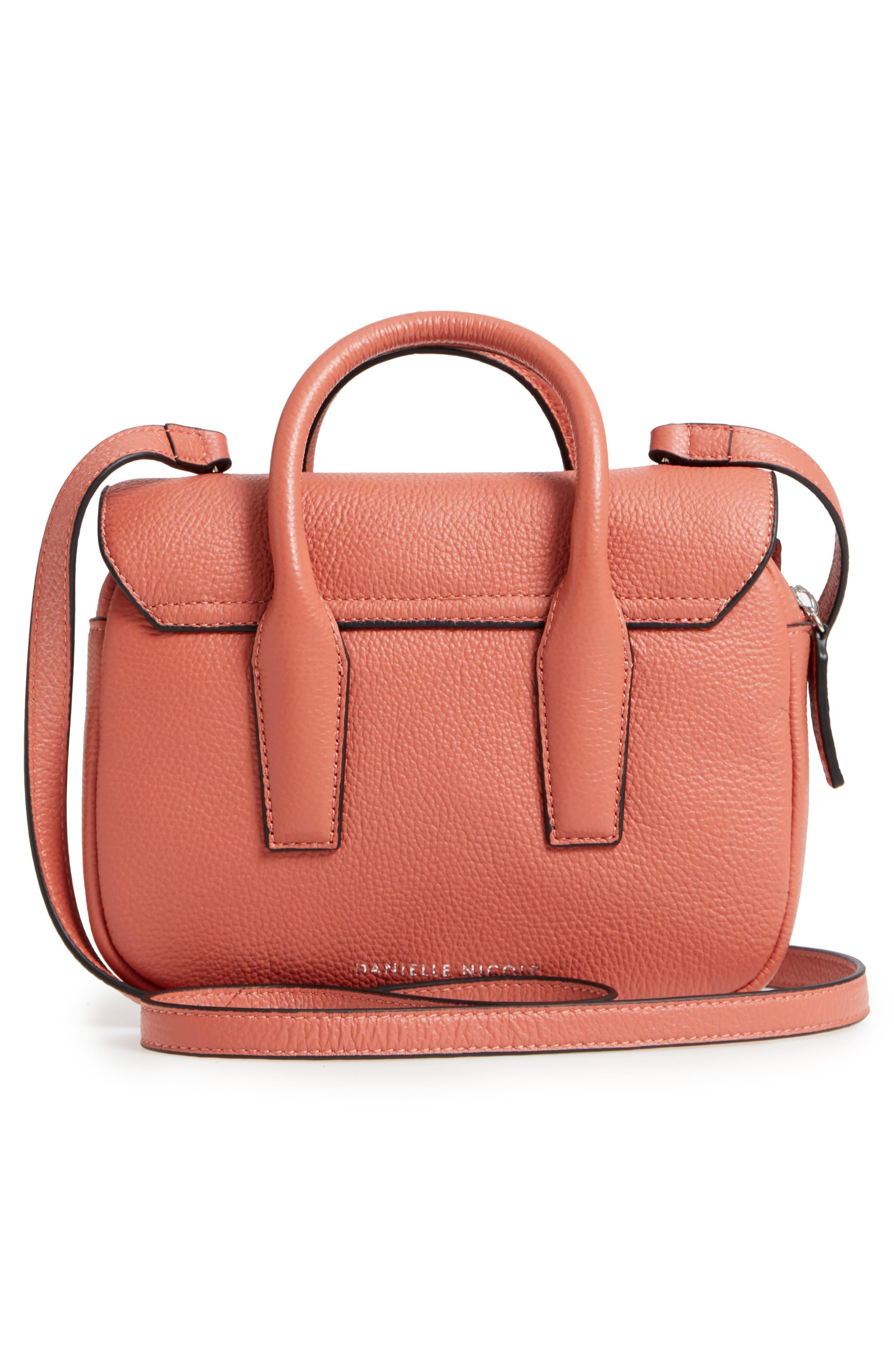 DANIELLE NICOLE,                             Kinsley Leather Crossbody Bag,                             Alternate thumbnail 3, color,                             600