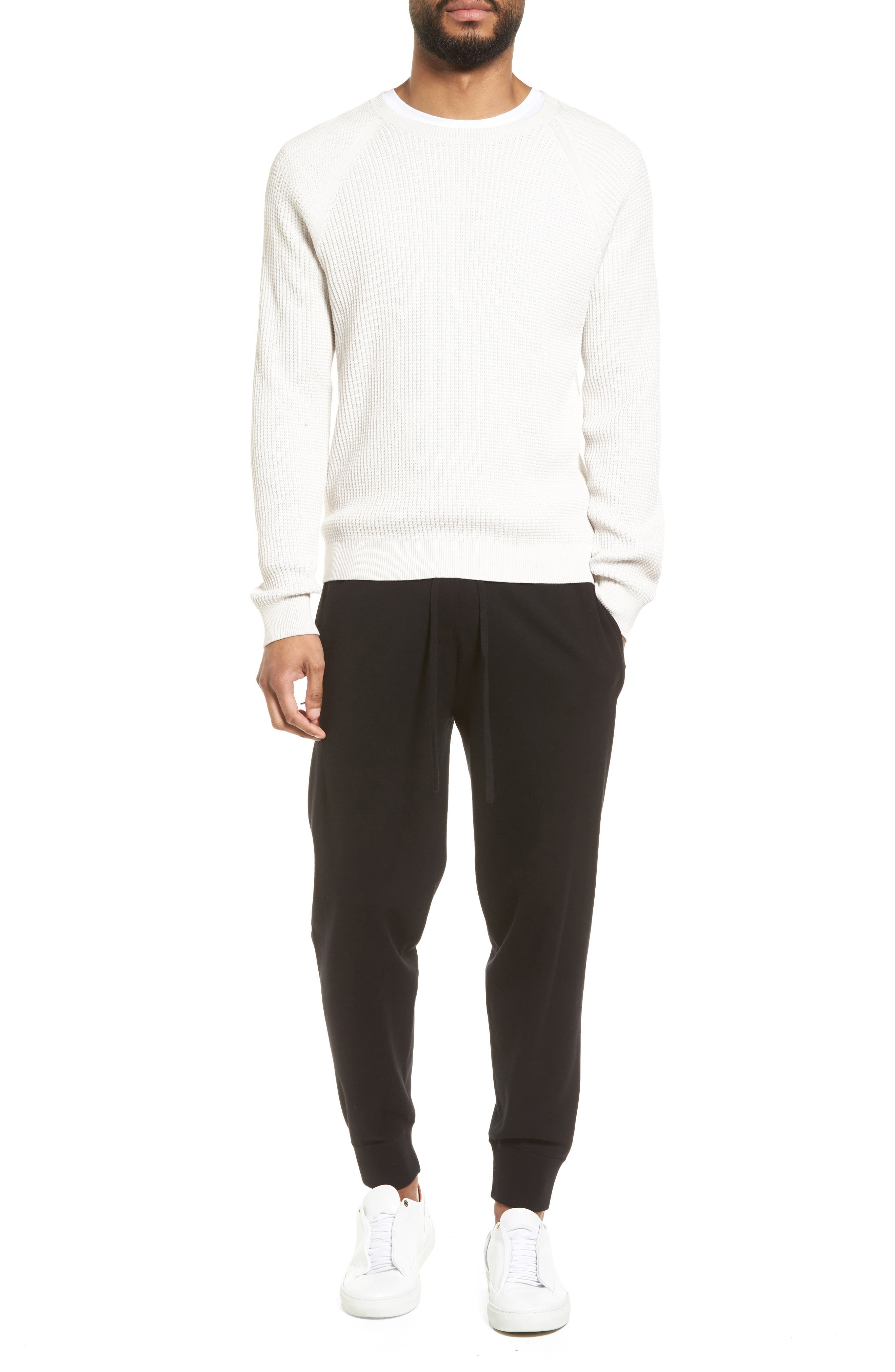 Slim Fit Thermal Knit Raglan Sweater,                             Alternate thumbnail 7, color,                             100
