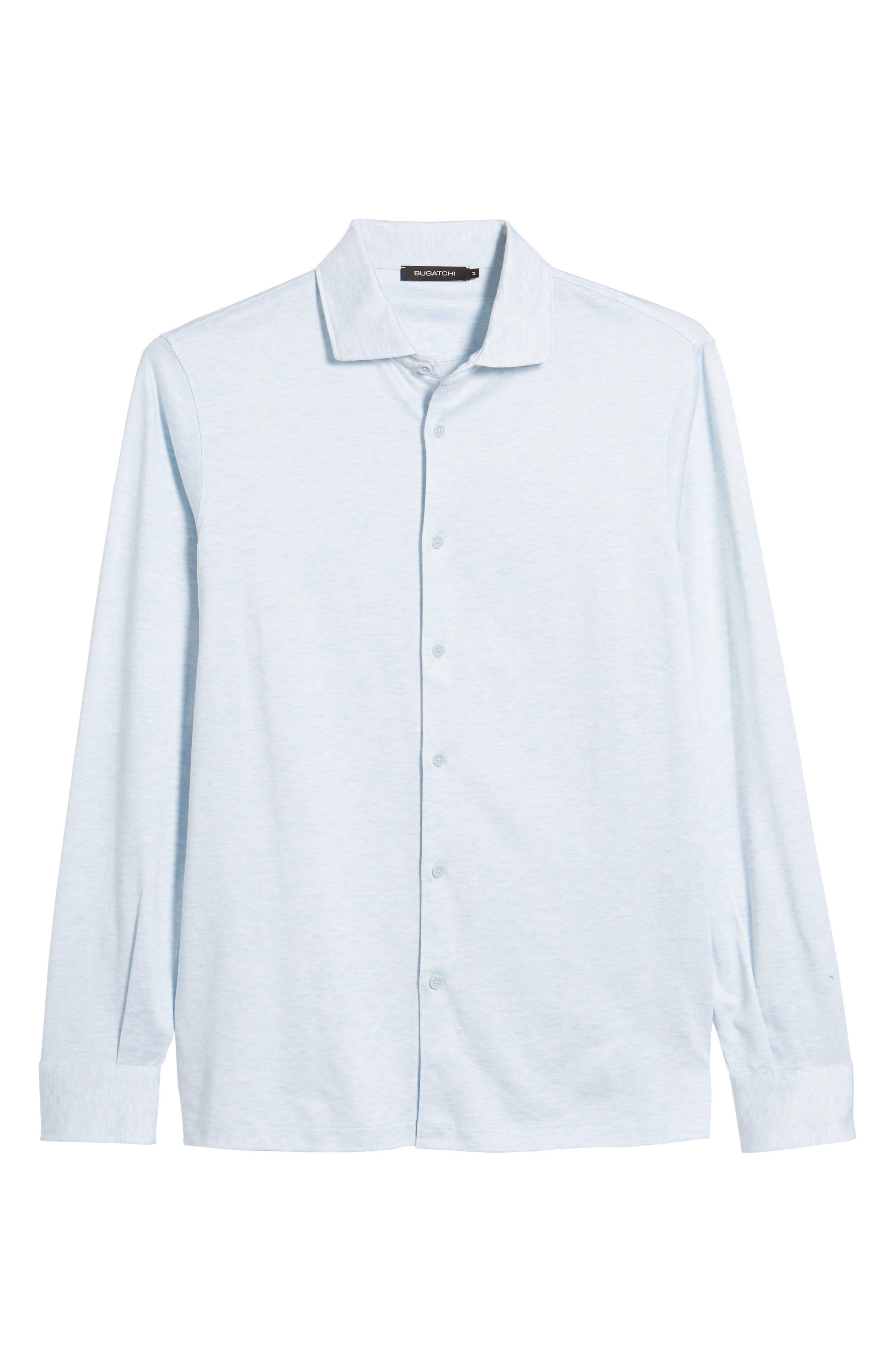 Regular Fit Silk Blend Sport Shirt,                             Alternate thumbnail 30, color,