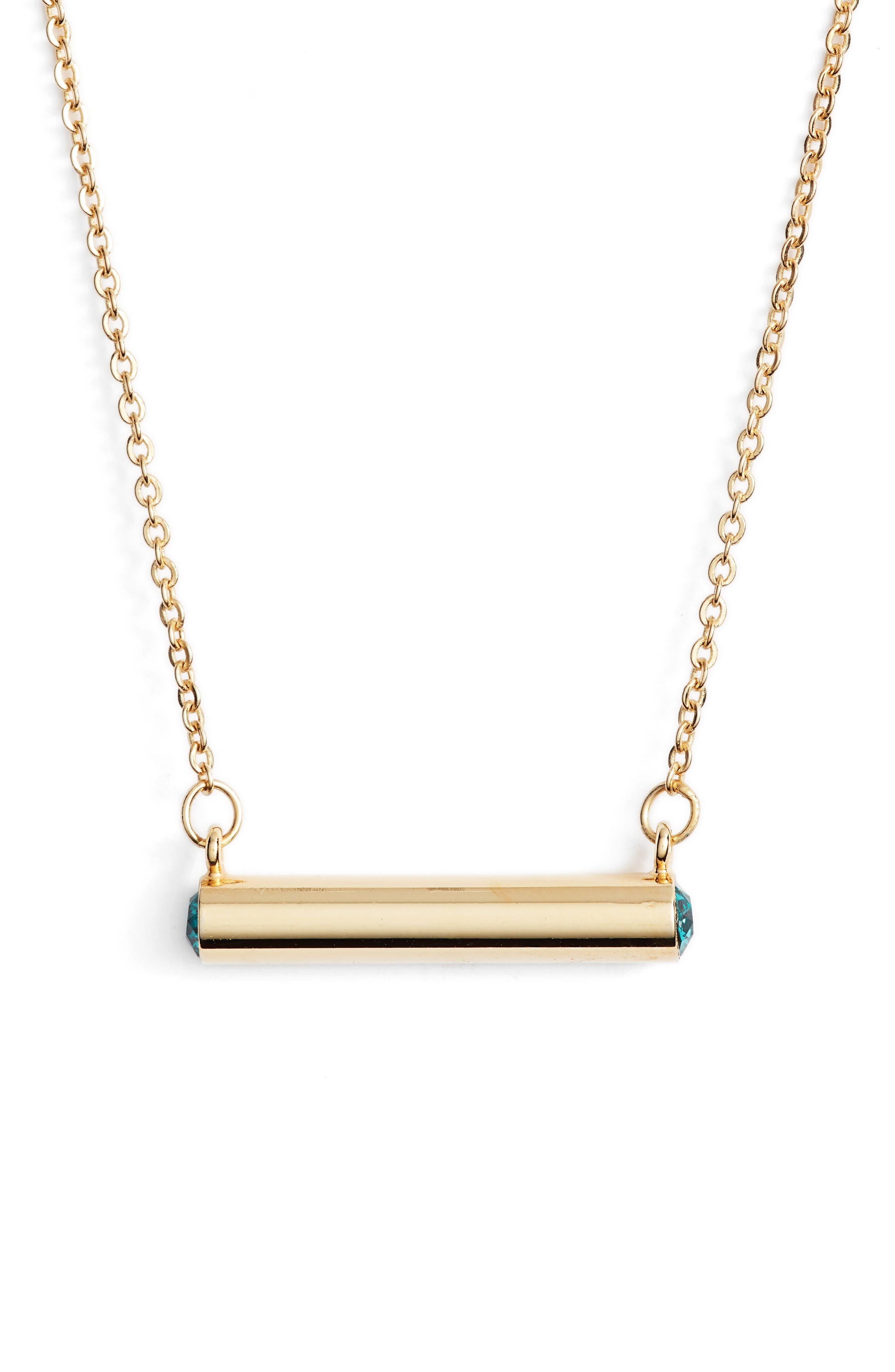 December Crystal Bar Pendant Necklace,                             Main thumbnail 2, color,