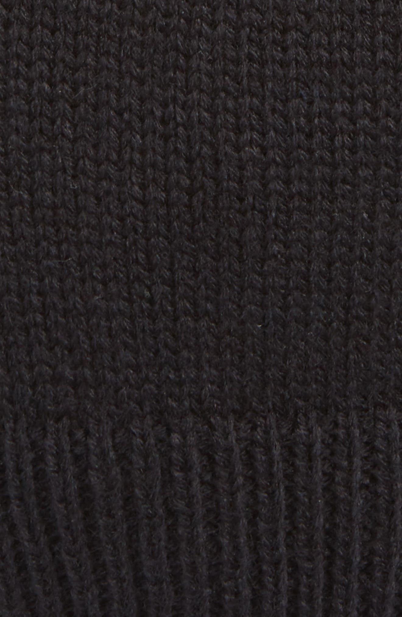 Snap Band Beanie,                             Alternate thumbnail 3, color,                             BLACK