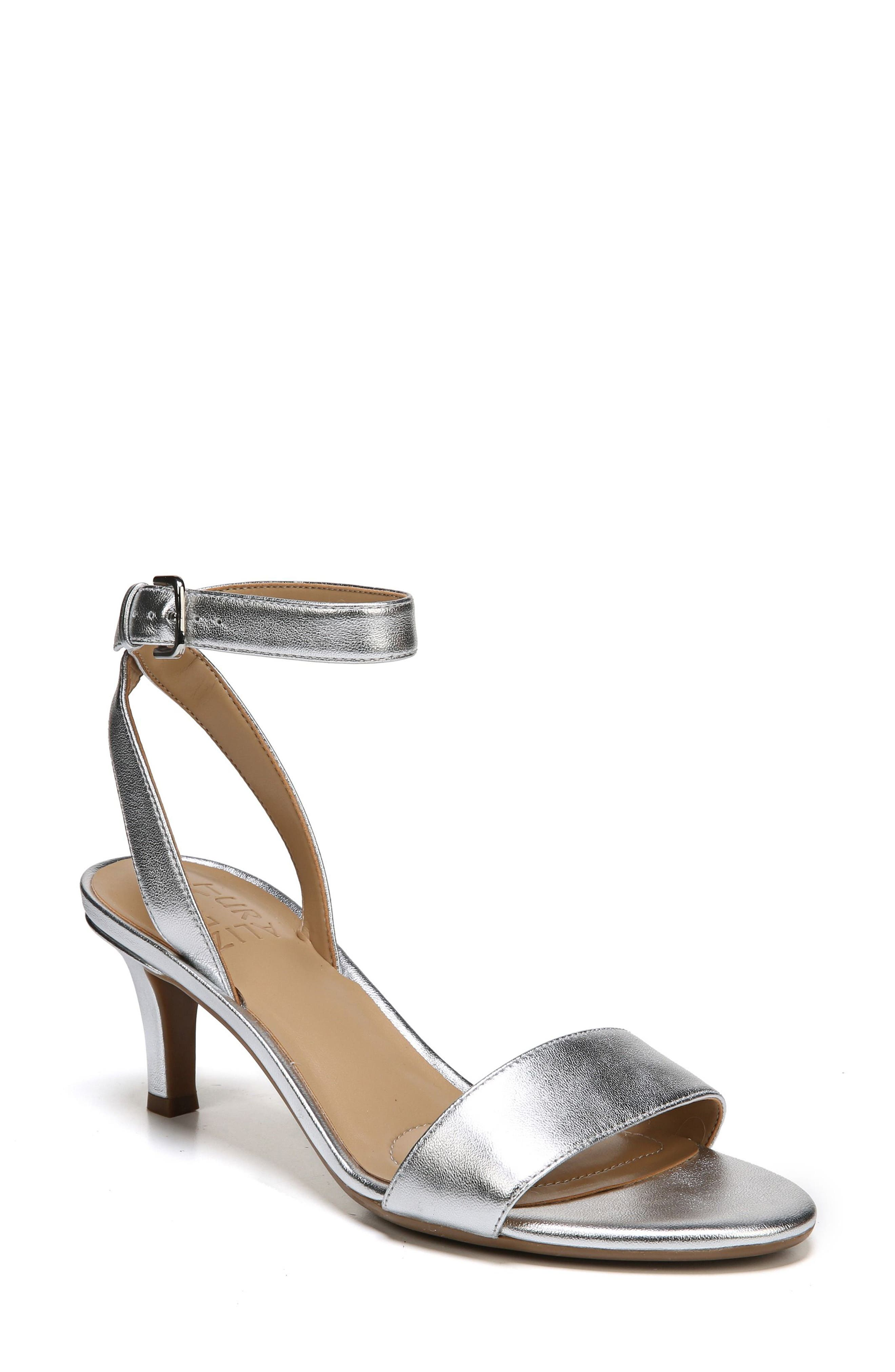 NATURALIZER Tinda Sandal, Main, color, SILVER LEATHER