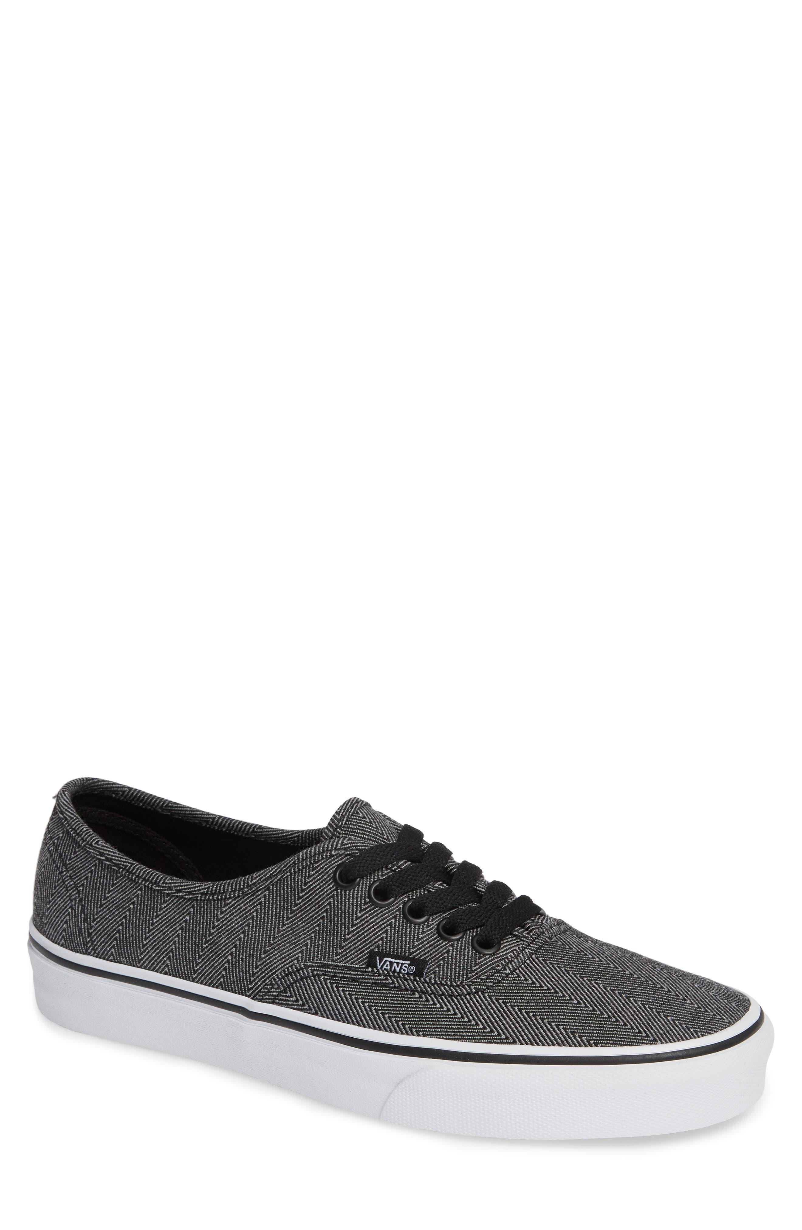 UA Authentic Sneaker,                             Main thumbnail 1, color,                             BLACK/ TRUE WHITE