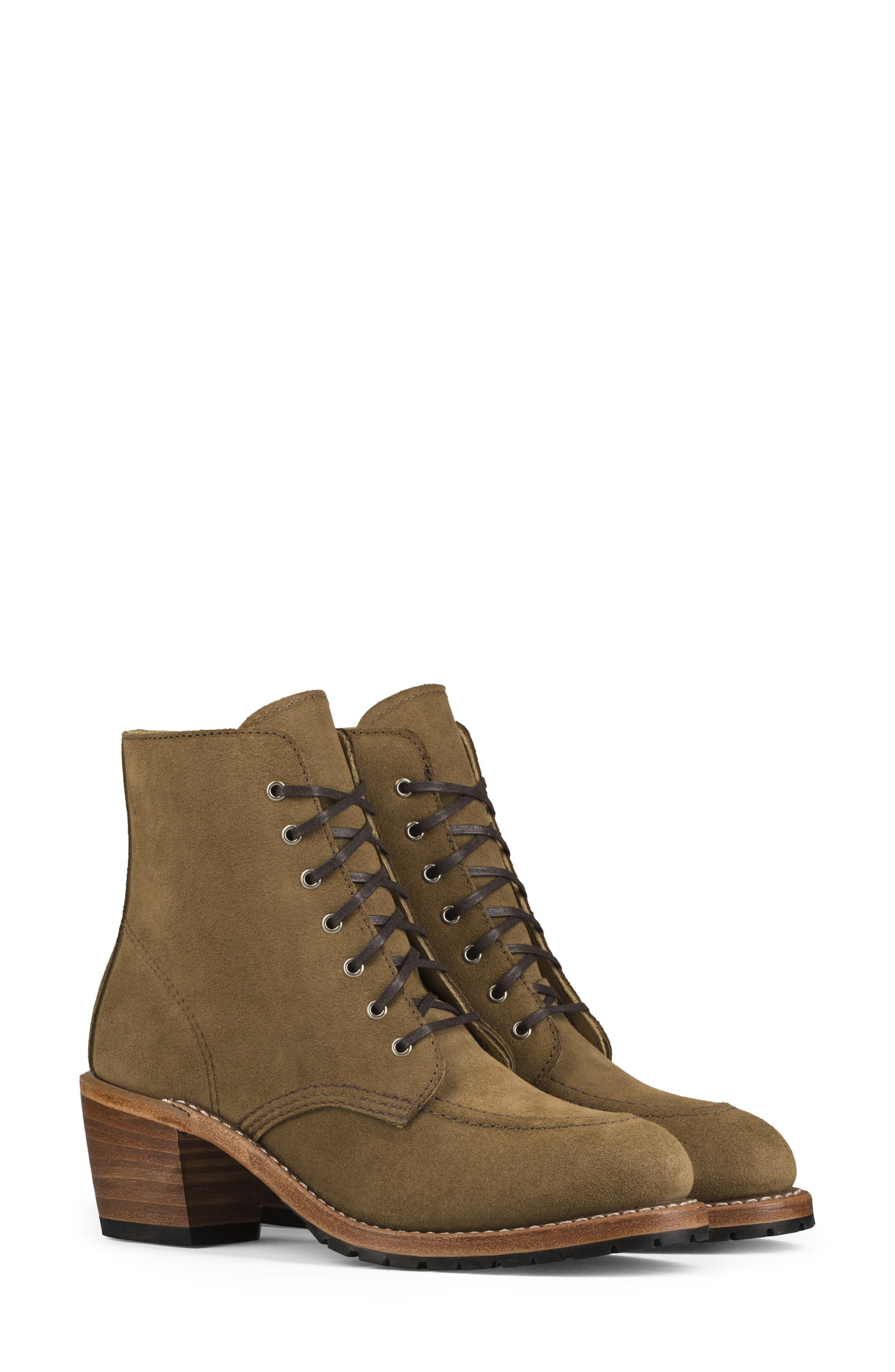 RED WING Clara Boot in Olive Leather