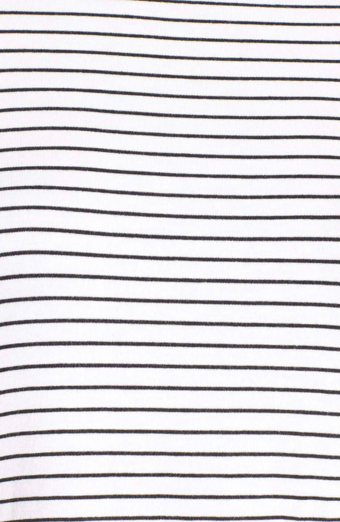Stripe Peplum Tee,                             Alternate thumbnail 10, color,