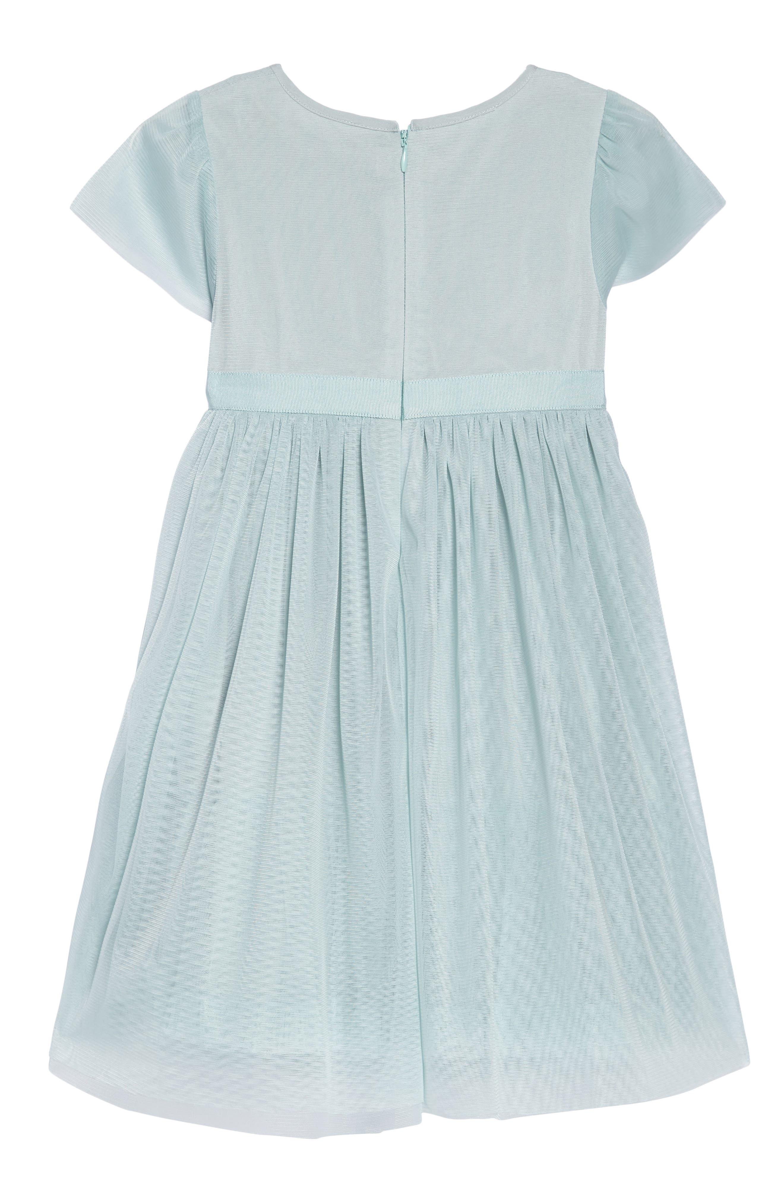 Cap Sleeve Tulle Dress,                             Alternate thumbnail 2, color,                             454