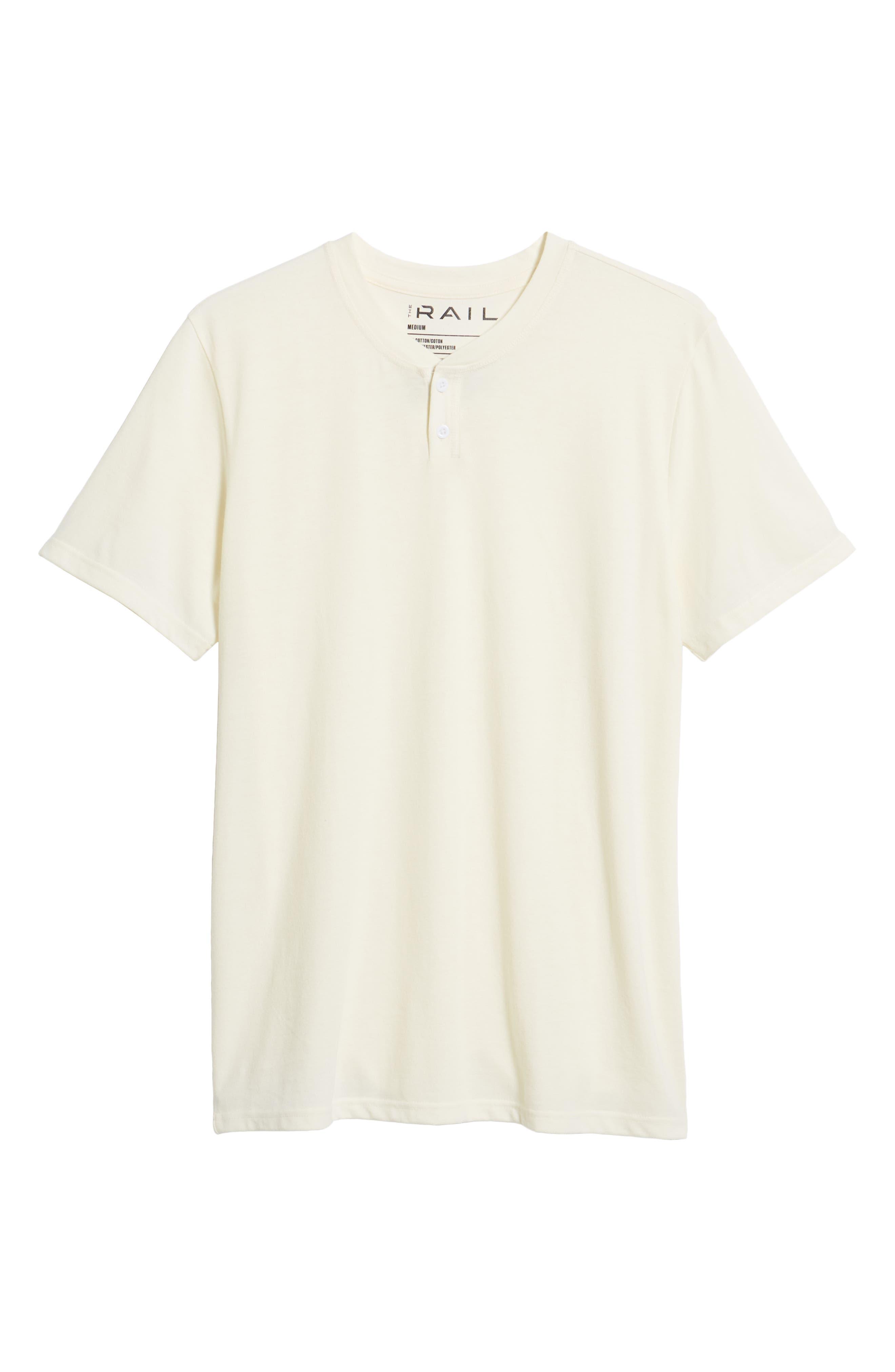 Solid Henley T-Shirt,                             Alternate thumbnail 6, color,                             IVORY EGRET