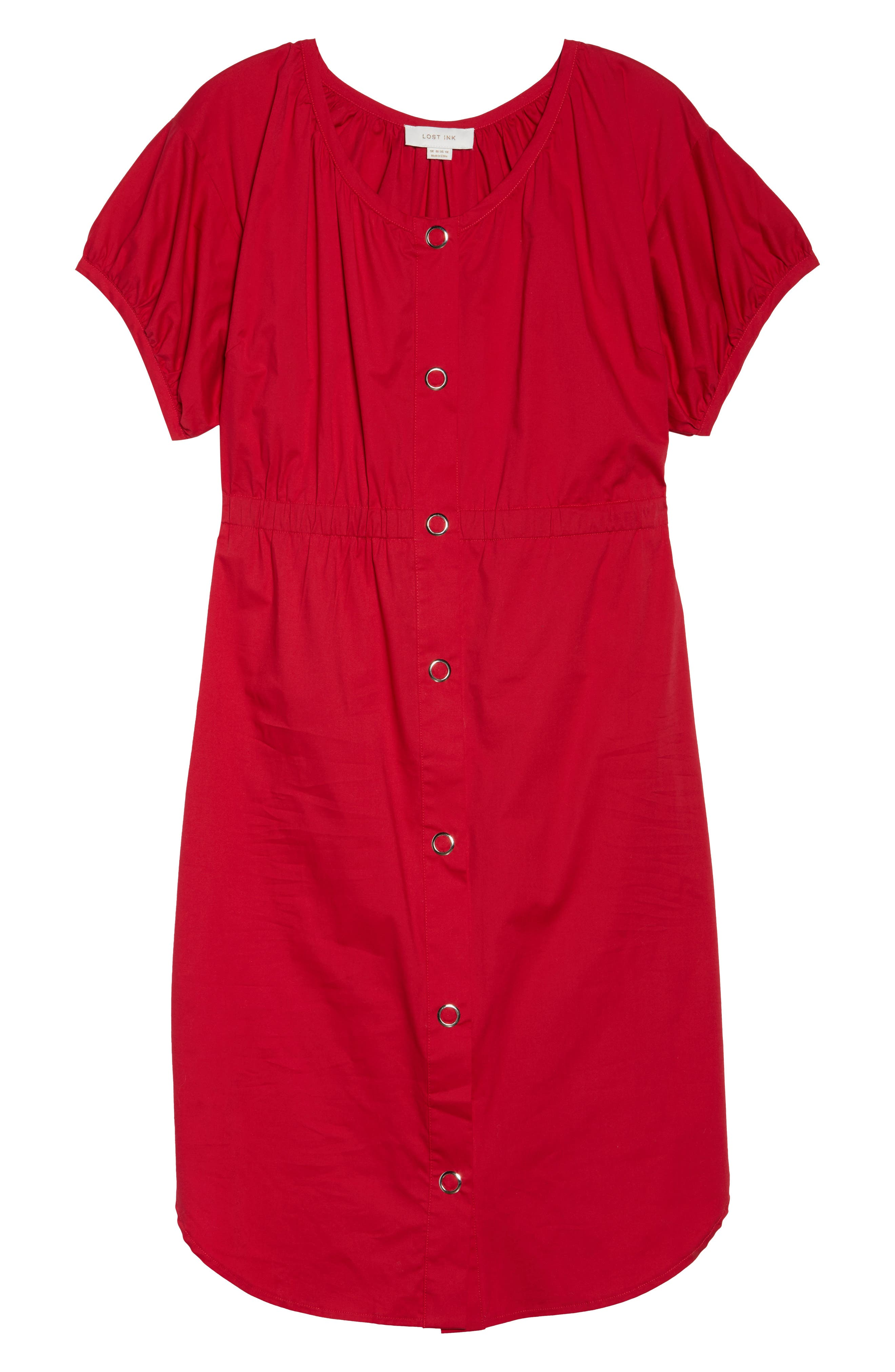 Column Cotton Dress,                             Alternate thumbnail 6, color,                             650