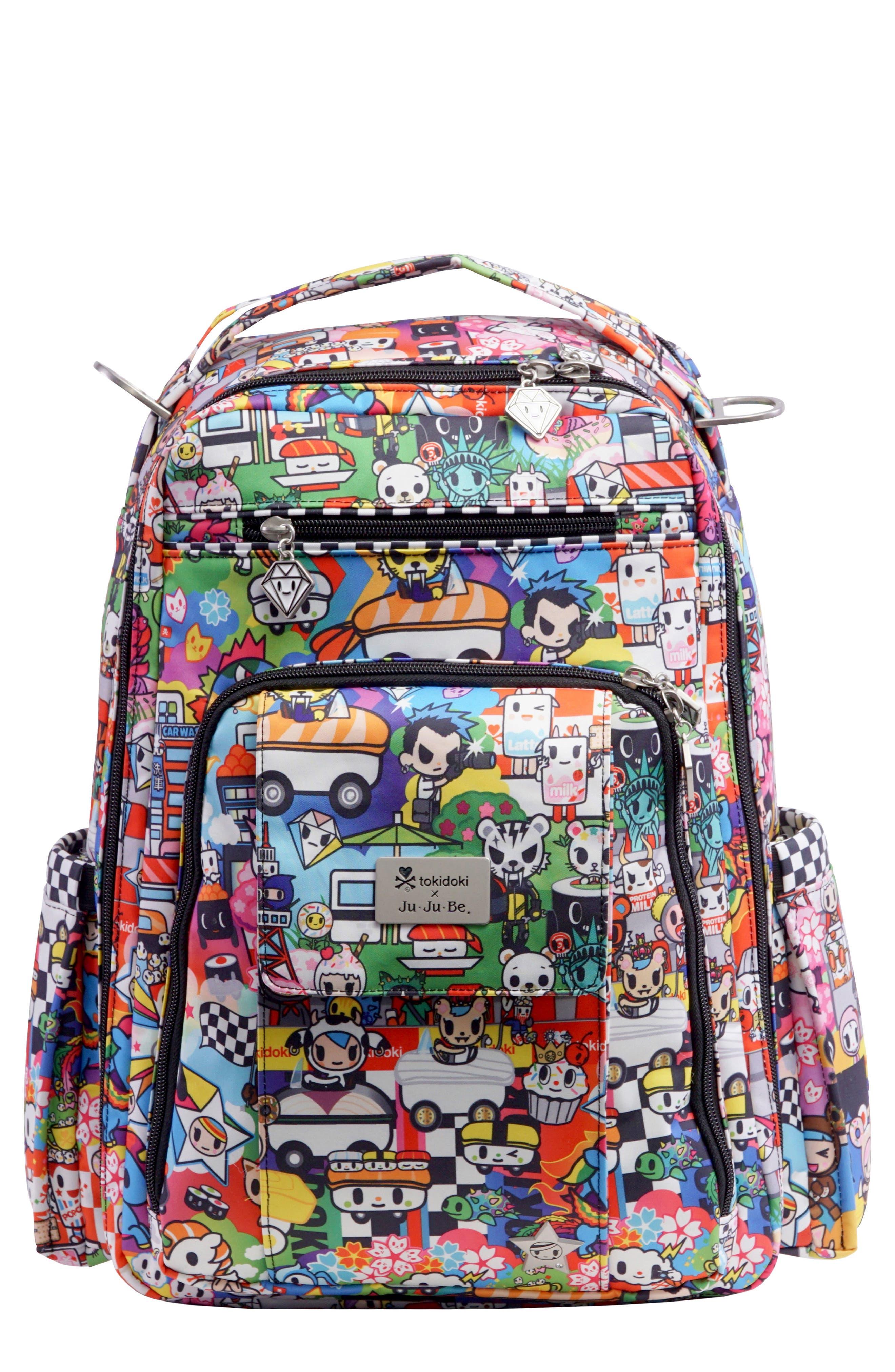 tokidoki x Ju-Ju-Be 'Be Right Back' Diaper Backpack,                             Main thumbnail 1, color,                             SUSHI CARS