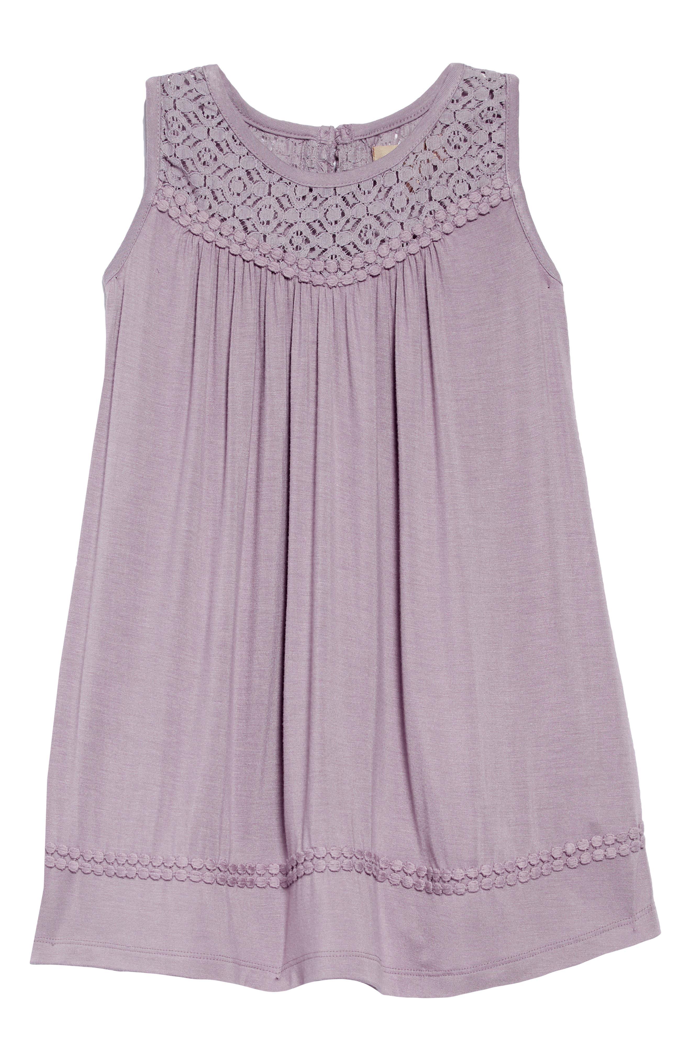 Annie Lace Trim Dress,                             Main thumbnail 1, color,                             060